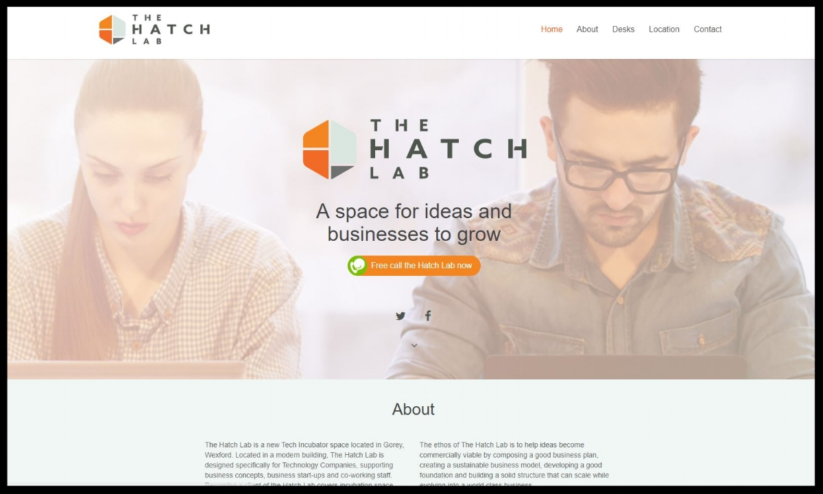 The Hatch Lab i s a new Tech Incubator space located in Gorey, Wexford. Located in a modern building, The Hatch Lab is designed specifically for Technology Companies, supporting business concepts, business start-ups and coworkers.  Quick Contact:   Contact page