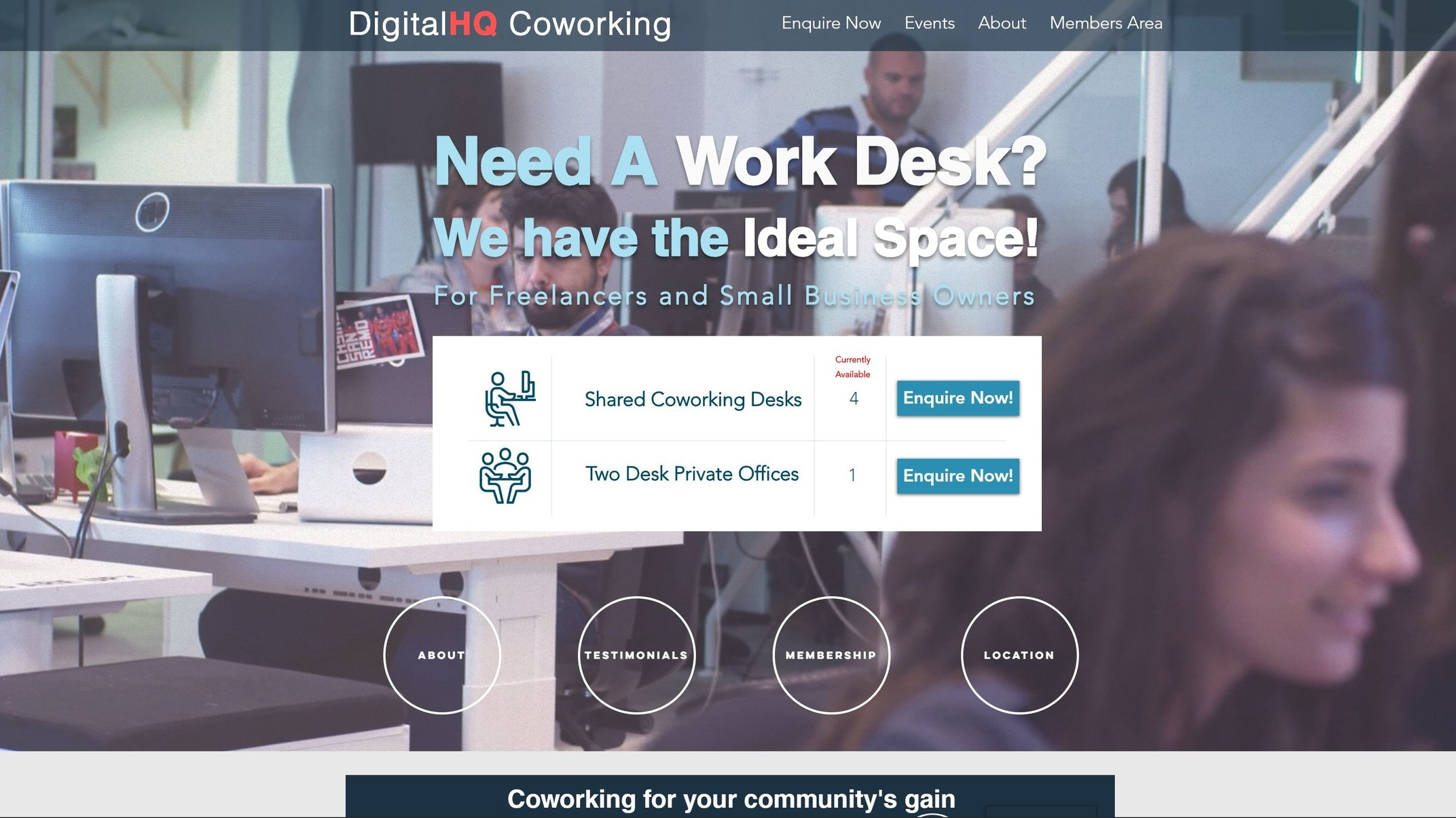 DigitalHQ  is Based above Bank of Ireland in the heart of Dún Laoghaire Town. It is an ideal place for small businesses that want to grow, with top class public transport, food, entertainment all on our doorstep.  Quick Contact:  +353 (0) 87 737 6622 pierconnect@digitalhq.ie