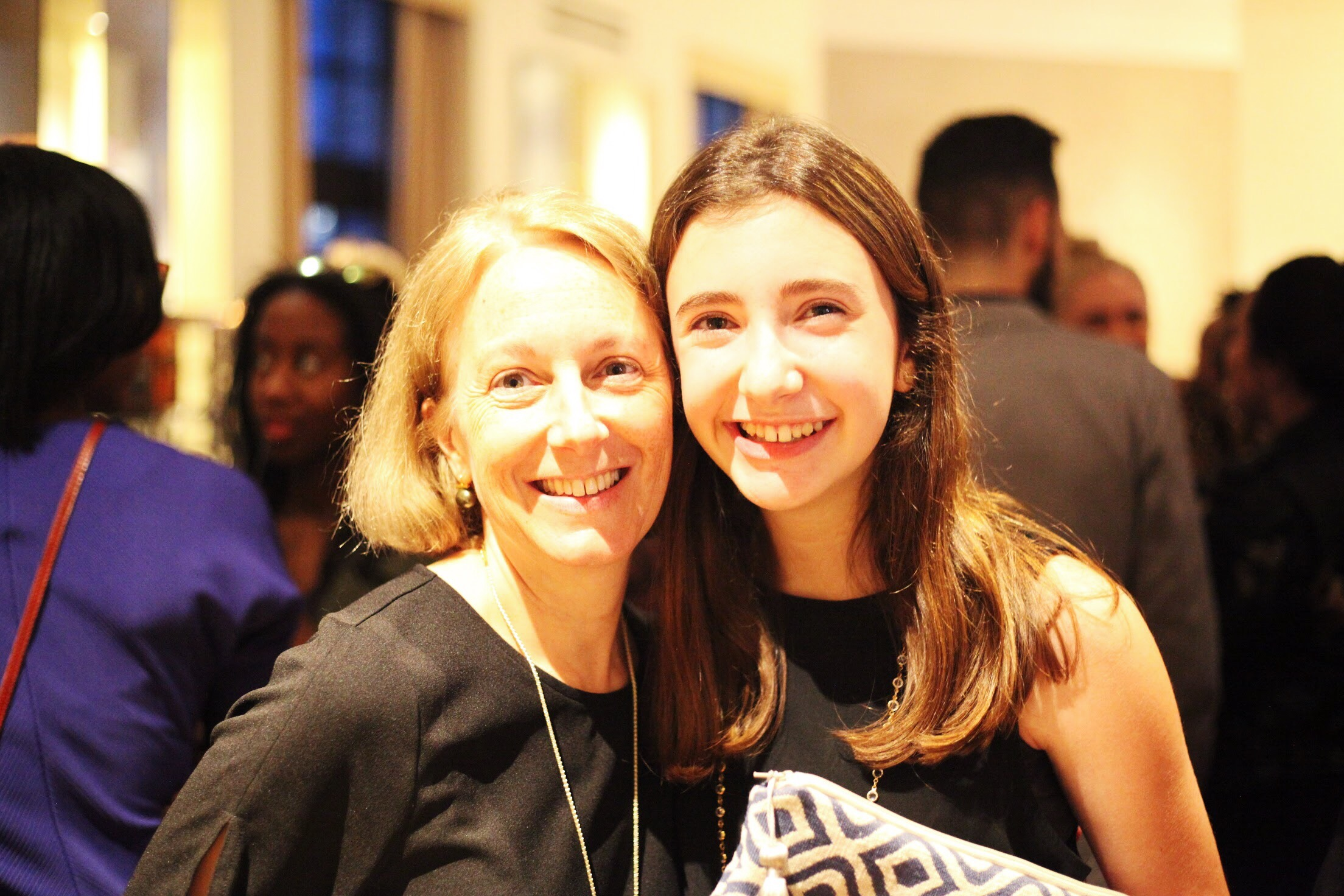 Anna and her mom at the  4th Annual RAD Girls Awards