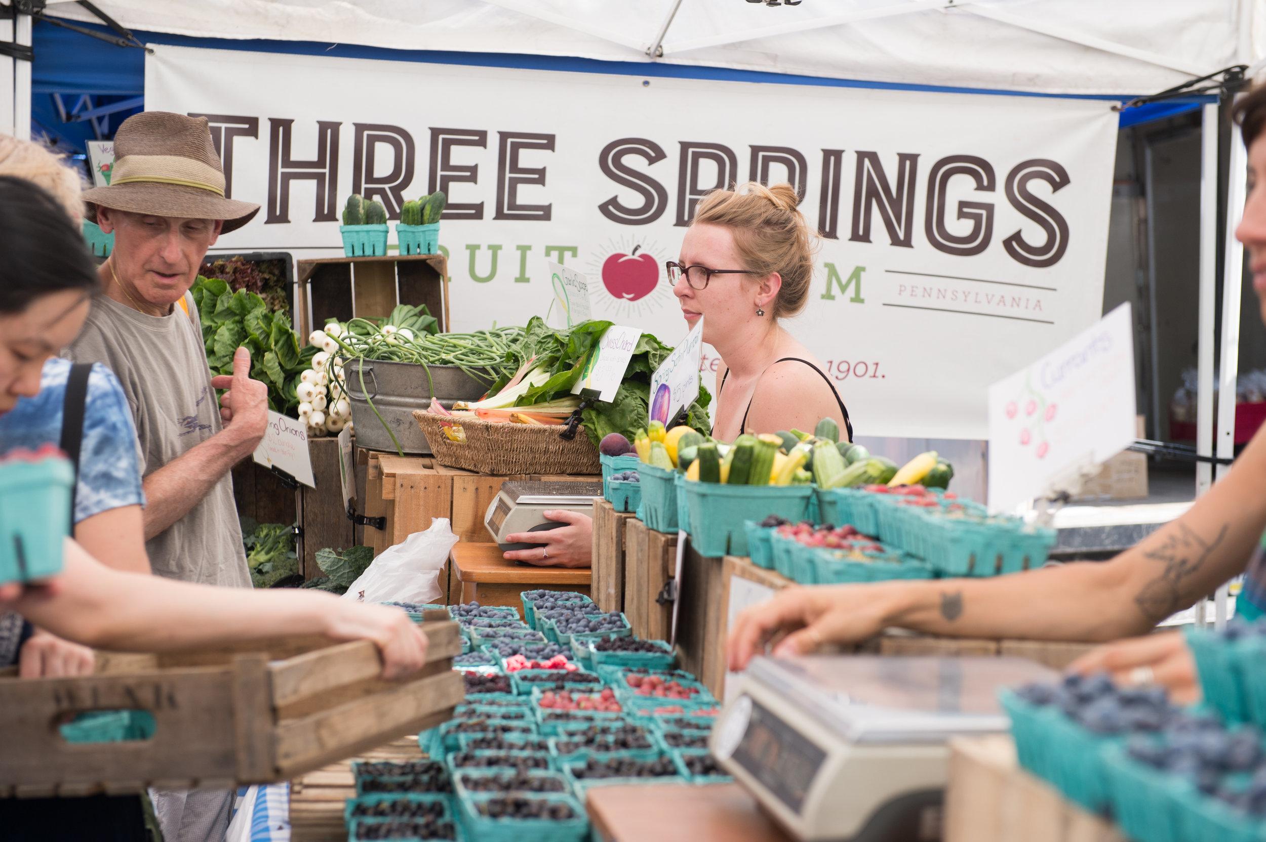 Three Springs Fruit Farm at Headhouse Market