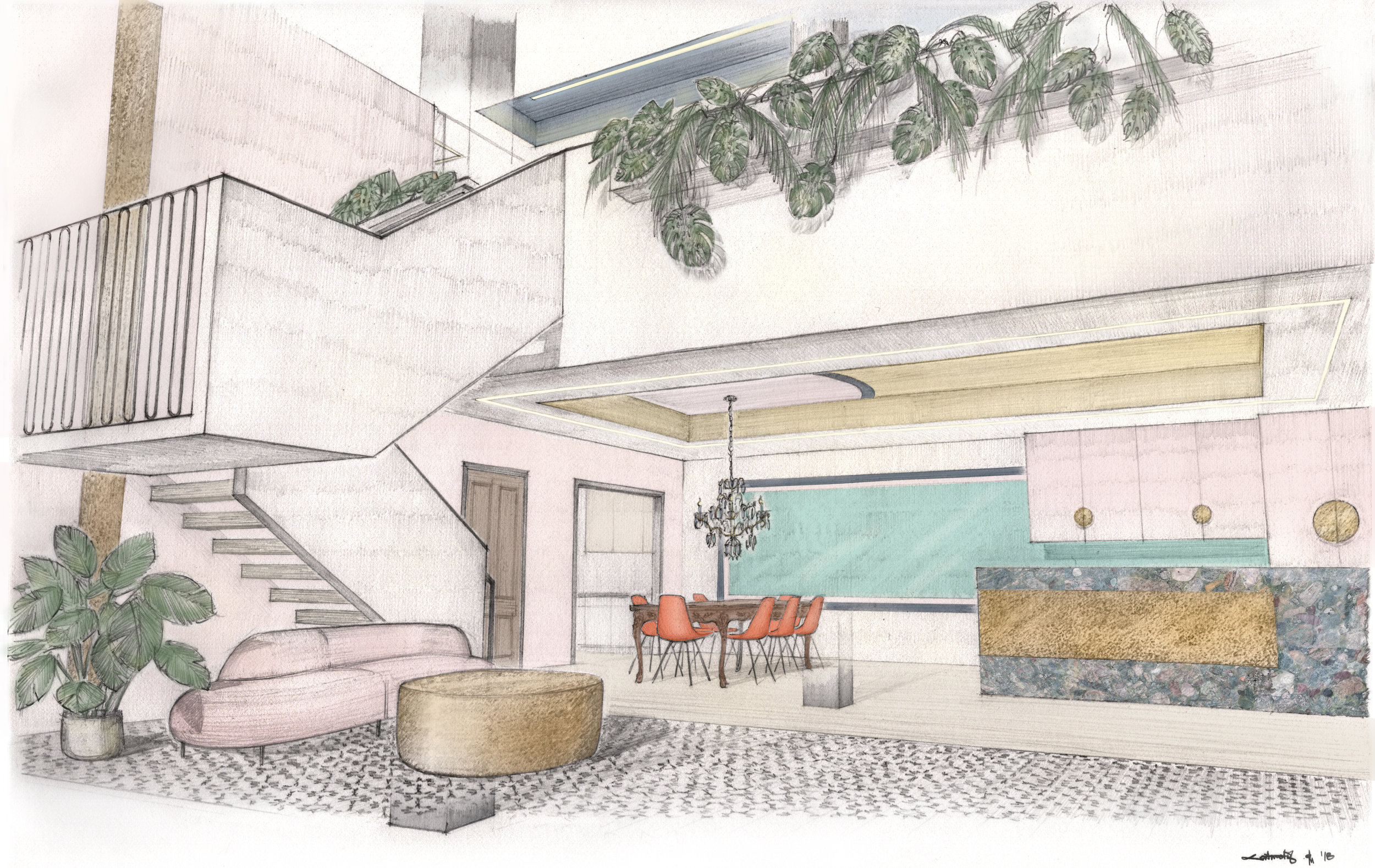 Rendering of Philly Home Girls Headquarters at 2006 Frankford Ave. provided by  Chrysalis Studios