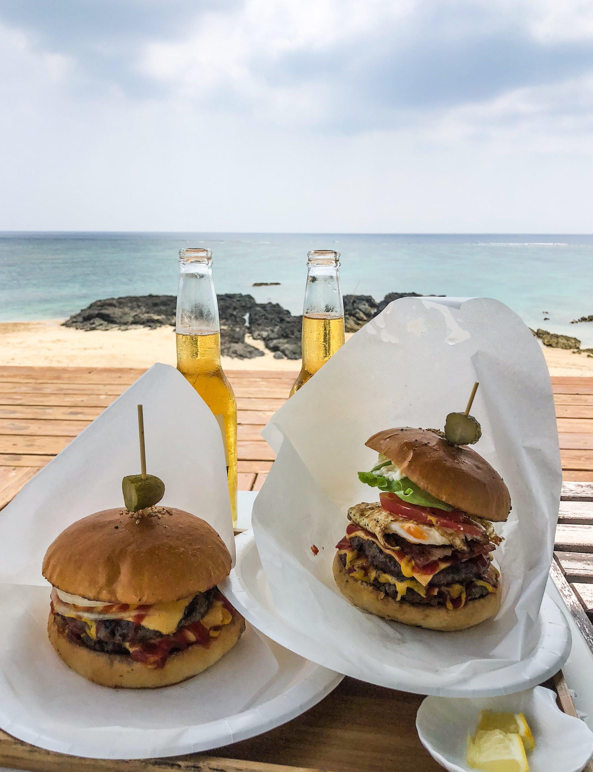 Burgers & Beer on Amami Island.