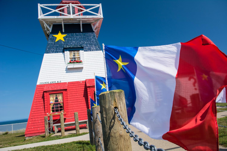 Acadian Flag Lighthouse