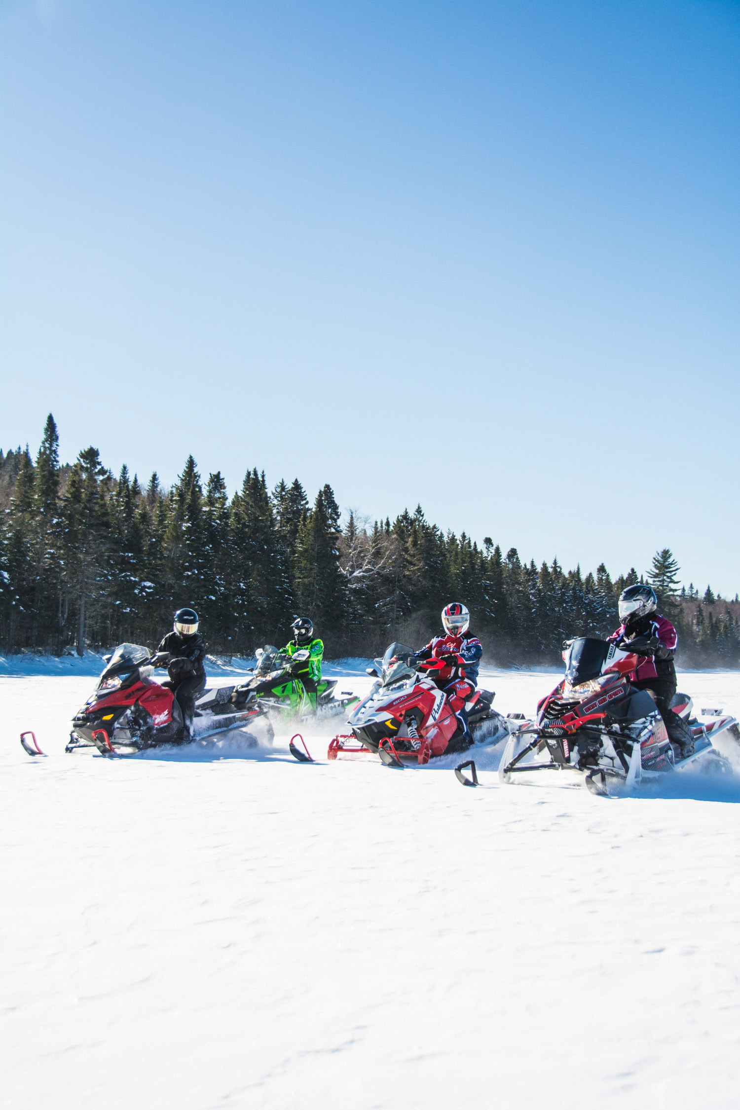 Lake Snowmobiling
