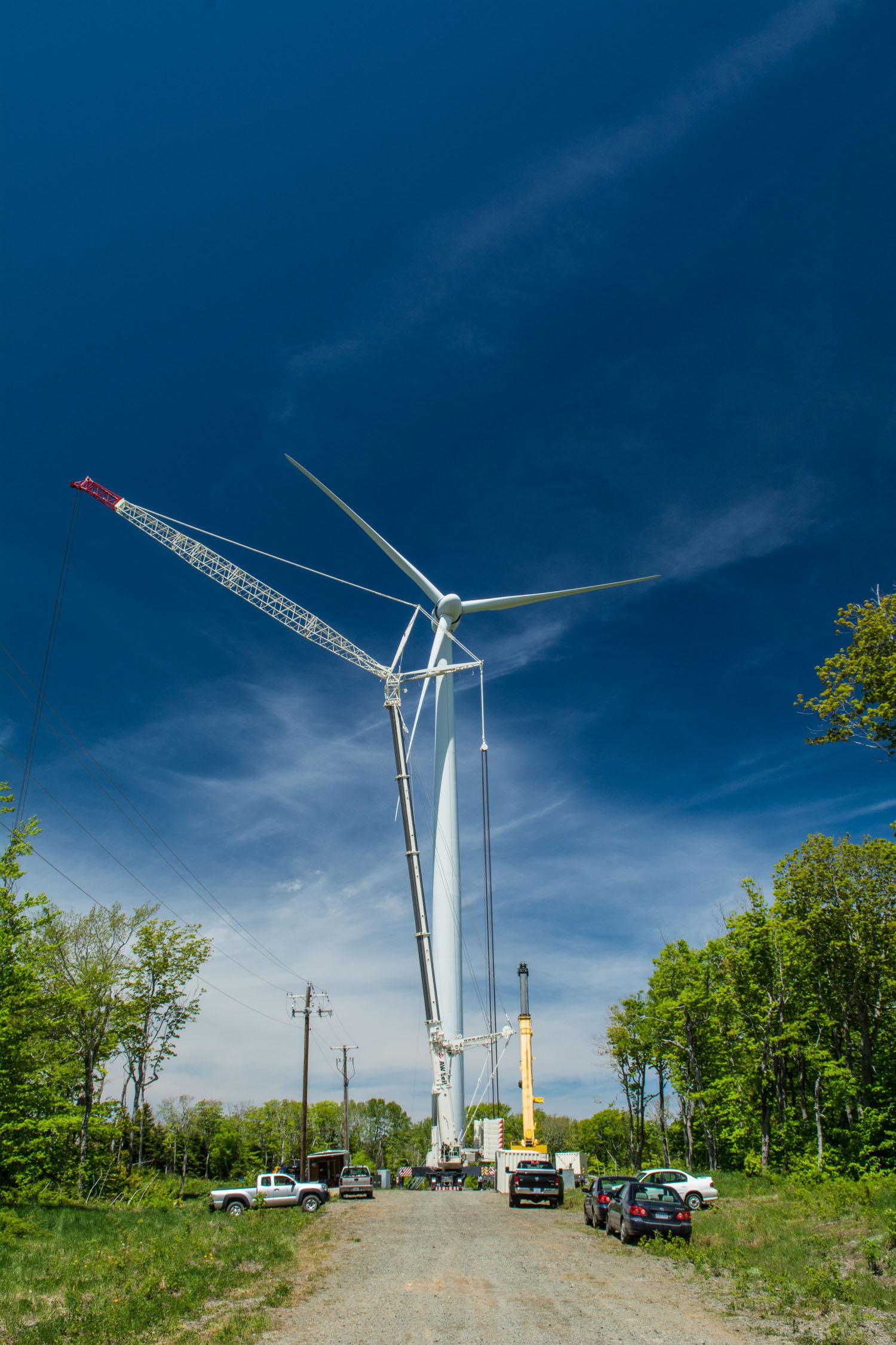 Crane and Wind Turbine