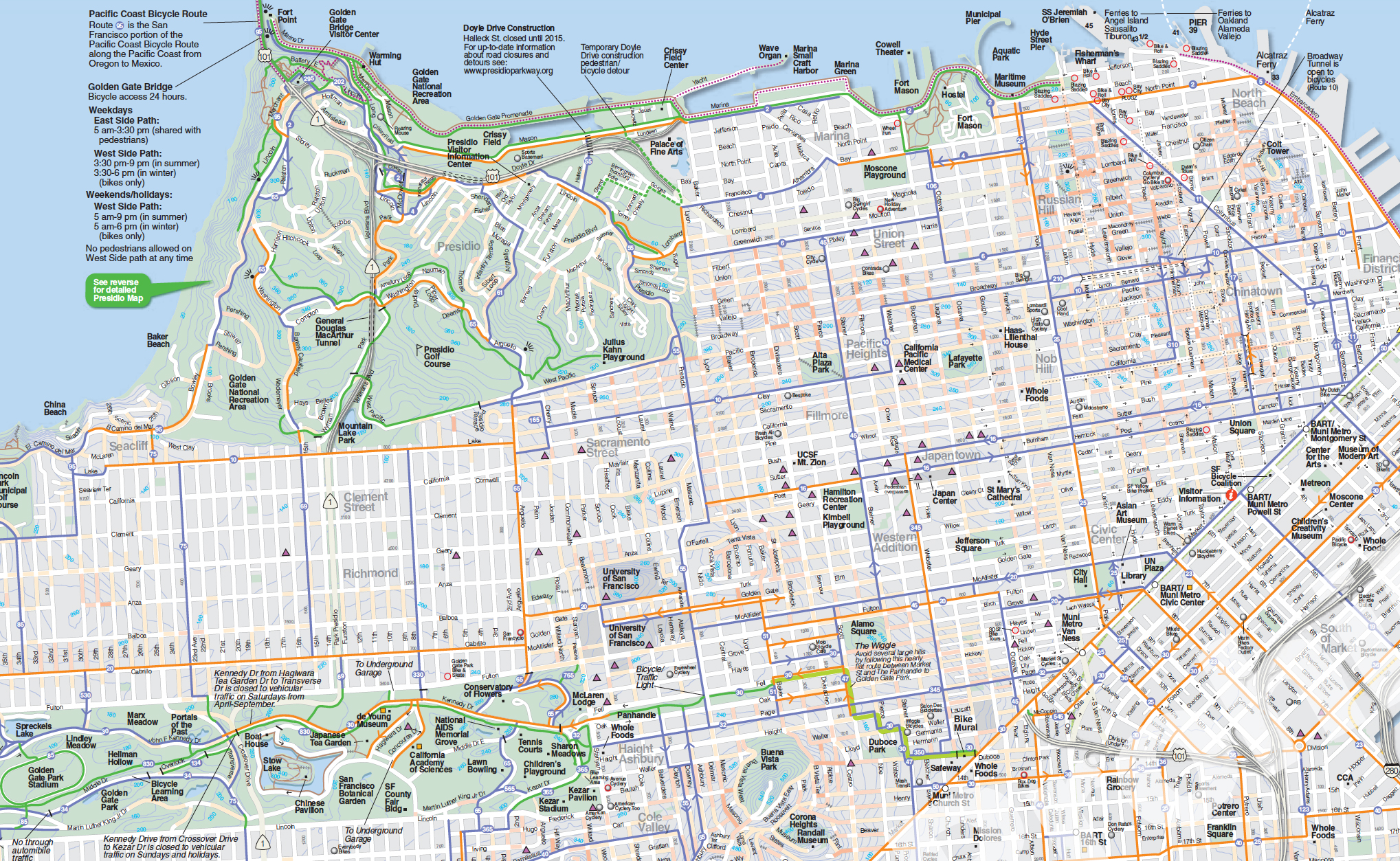 The Urban Bike Map, sans spaghetti — Informing Design, Inc. on