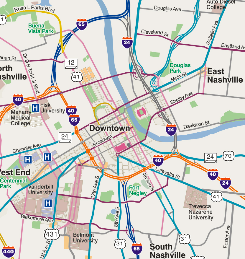 Nashville — Informing Design, Inc. on nashville neighborhood map, downtown seattle map, downtown kingsport map, nashville visitors map, broadway nashville map, nashville street map, nashville bus map, east nashville map, downtown raleigh map, nashville tn map, downtown naperville map, west end nashville map, downtown atlanta map, downtown houston map, opryland nashville map, nashville tx map, nashville attractions map, downtown miami map, hilton hotels nashville map, downtown california map,