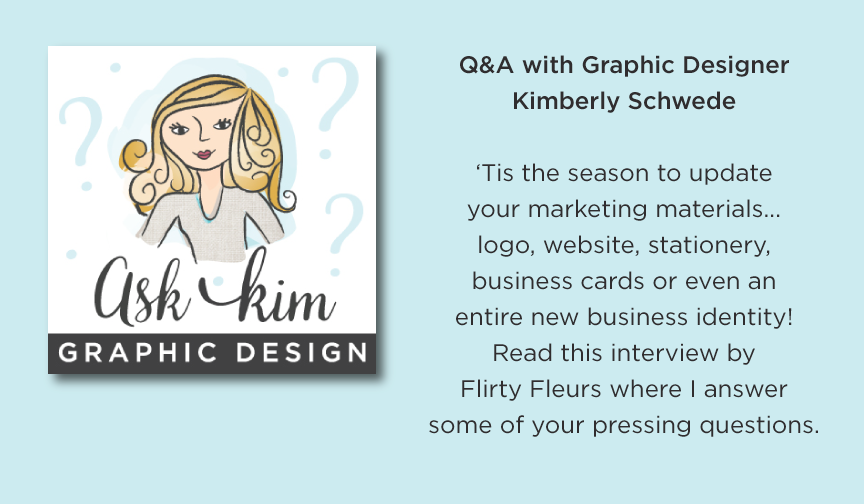 Ask Kimberly Schwede Graphic Designer Q&A Interview