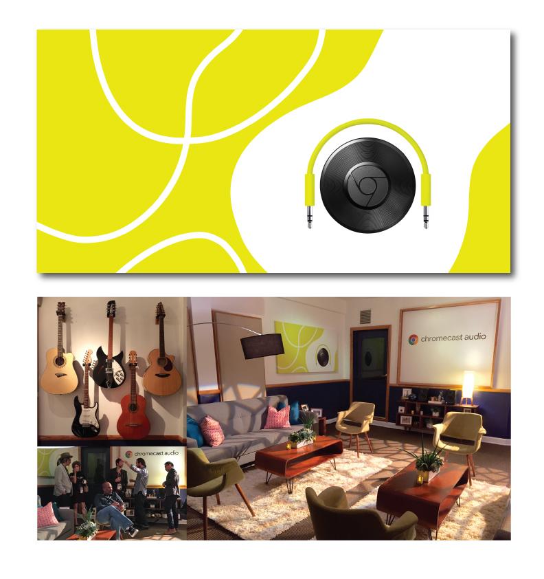 Google Chromecast Audo Wall Art Interior Design Graphic Design