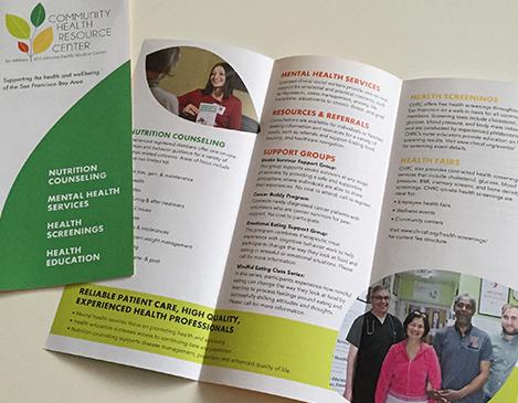 Sutter Health Community Health Resource Center Brochure Design Graphic Design