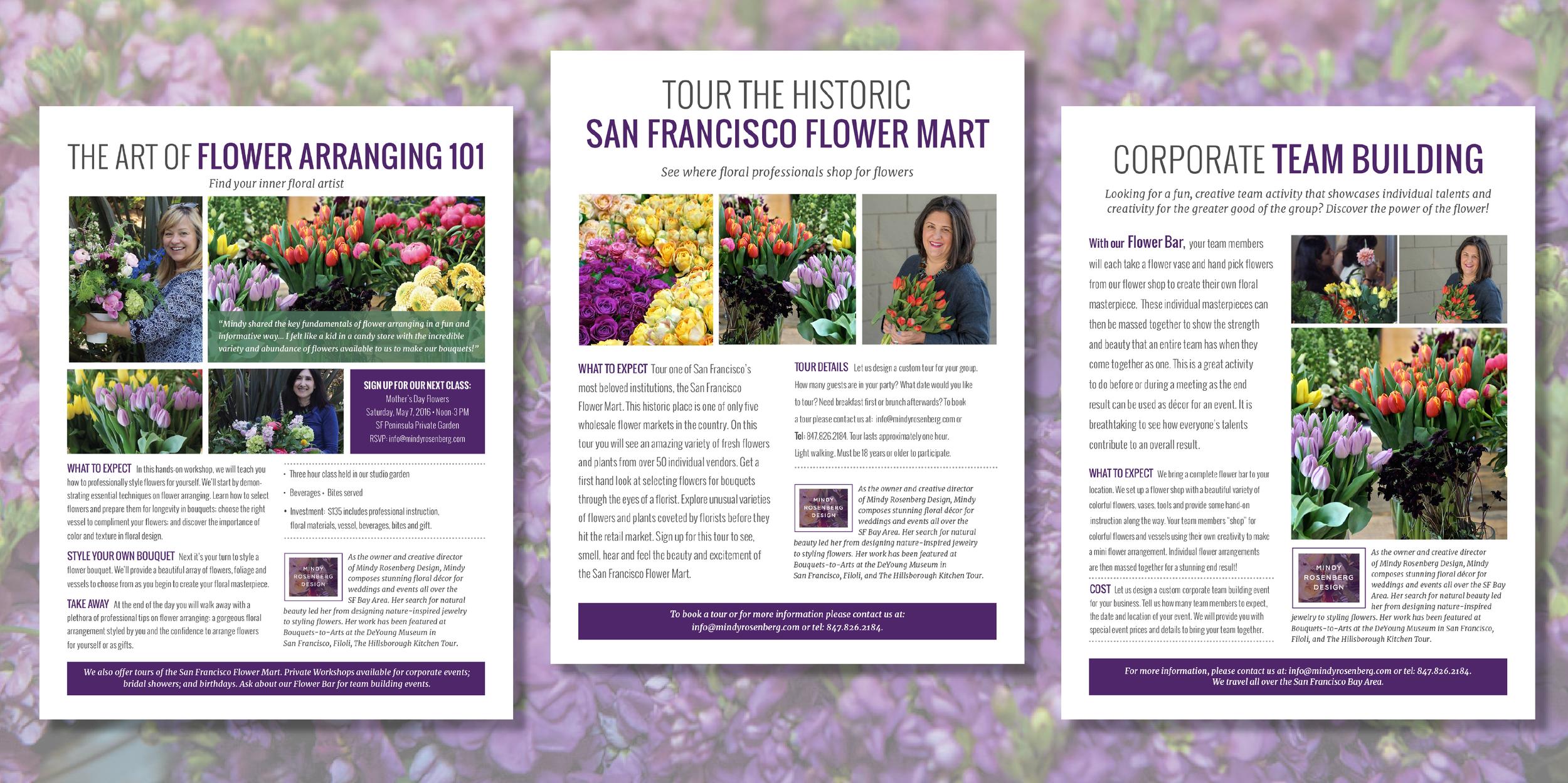 Mindy Rosenberg design Tour the san francisco Flower Mart Graphic design logo design