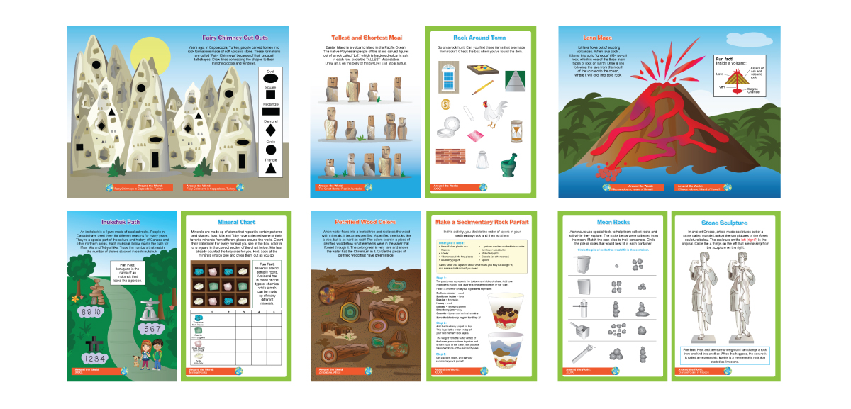 LITTLE PASSPORTS   Project:  Interior Activity Book Illustrations.
