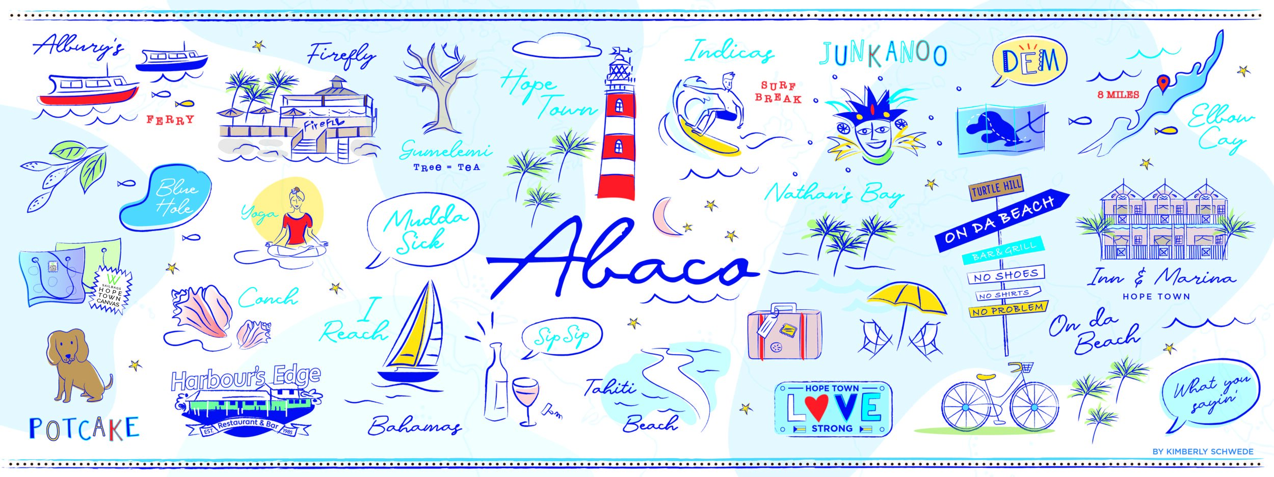 ABC's of Hope Town Illustration by Kimberly Schwede