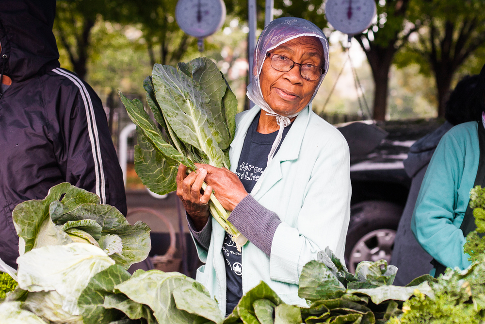 Many of these women grow the vegetables in small plots throughout the South Bronx