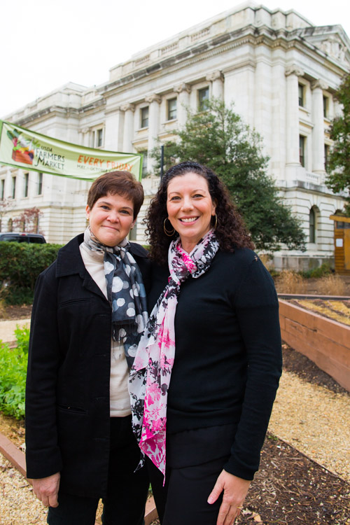 USDA Deputy Secretary Krysta Harden and Audra Mulkern of the Female Farmer Project at the USDA in Washington DC