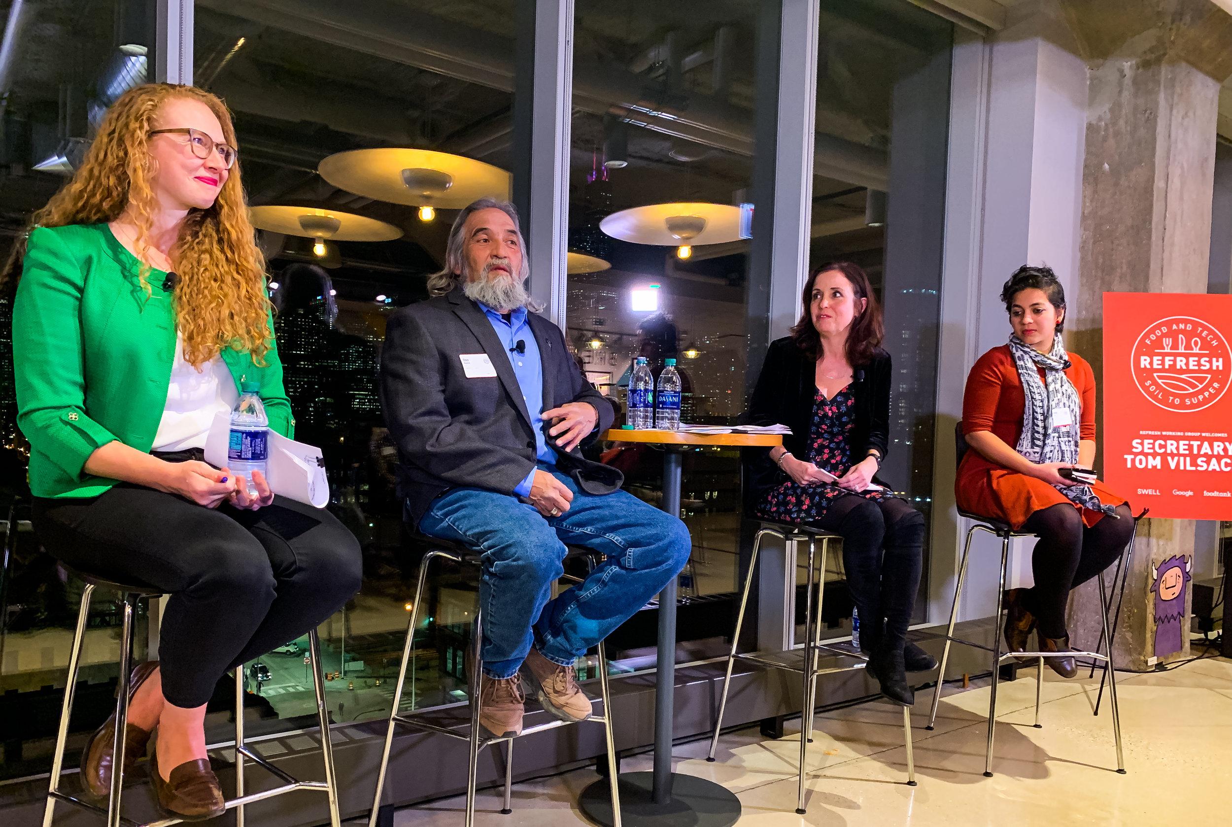 Ali Lange, Google - Don Bustos, Santa Cruz Farm - Danielle Nierenberg, Food Tank - Ankita Raturi, USDA