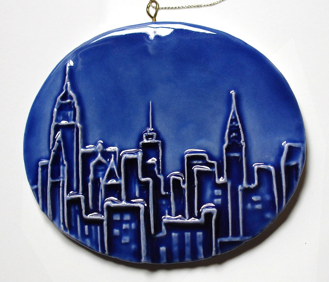 Ceramic NYC Ornaments