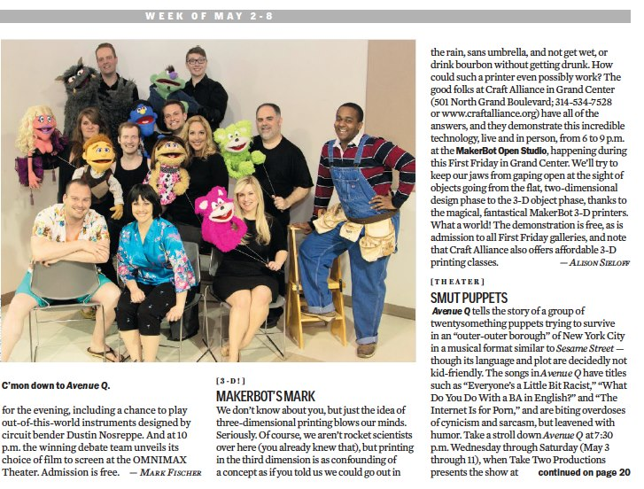 Featured in the Riverfront Times.