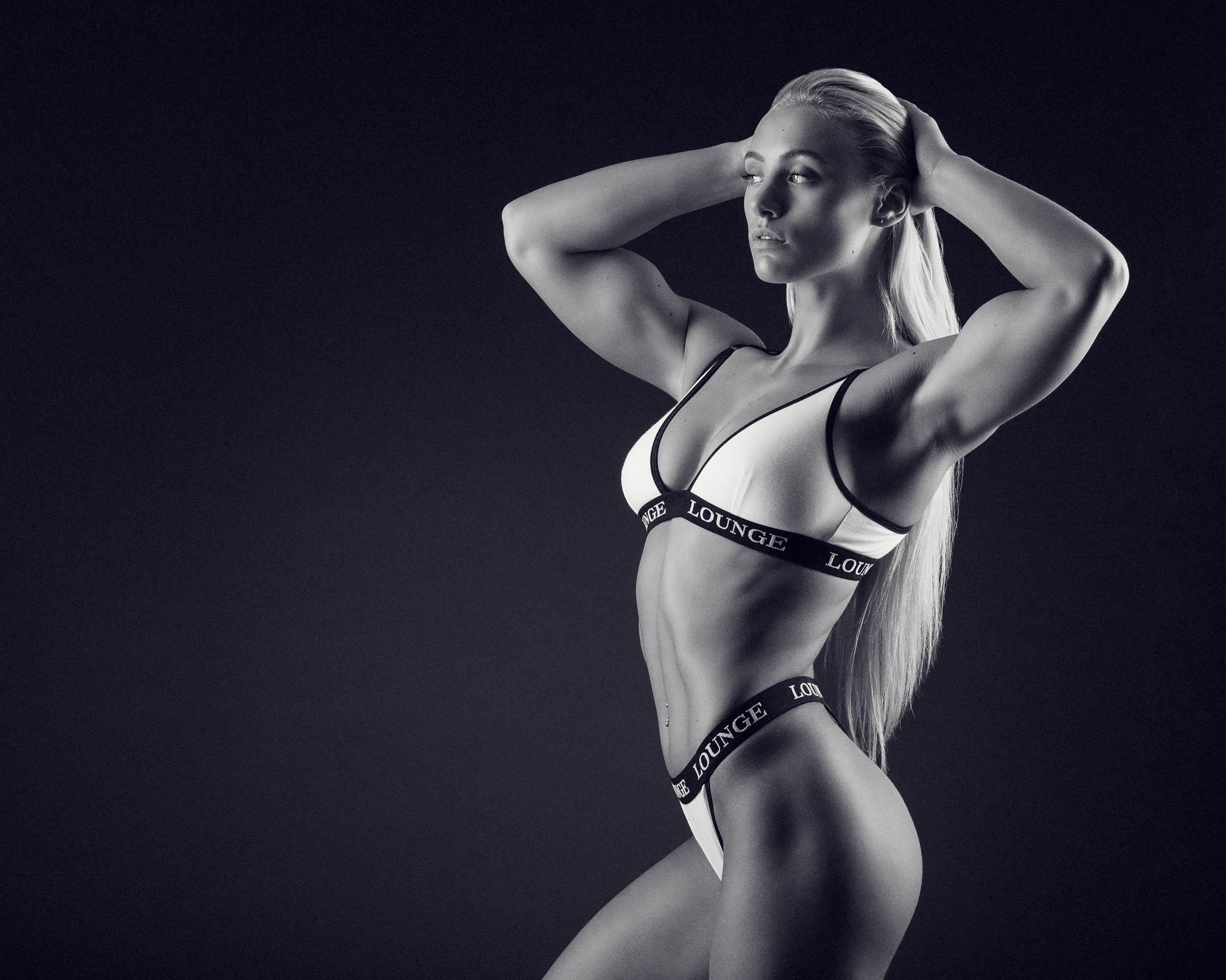 Fitnessmodel Guusje van Geel
