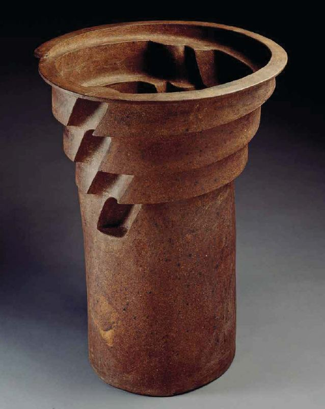 1974 - columnar floor pot.JPG