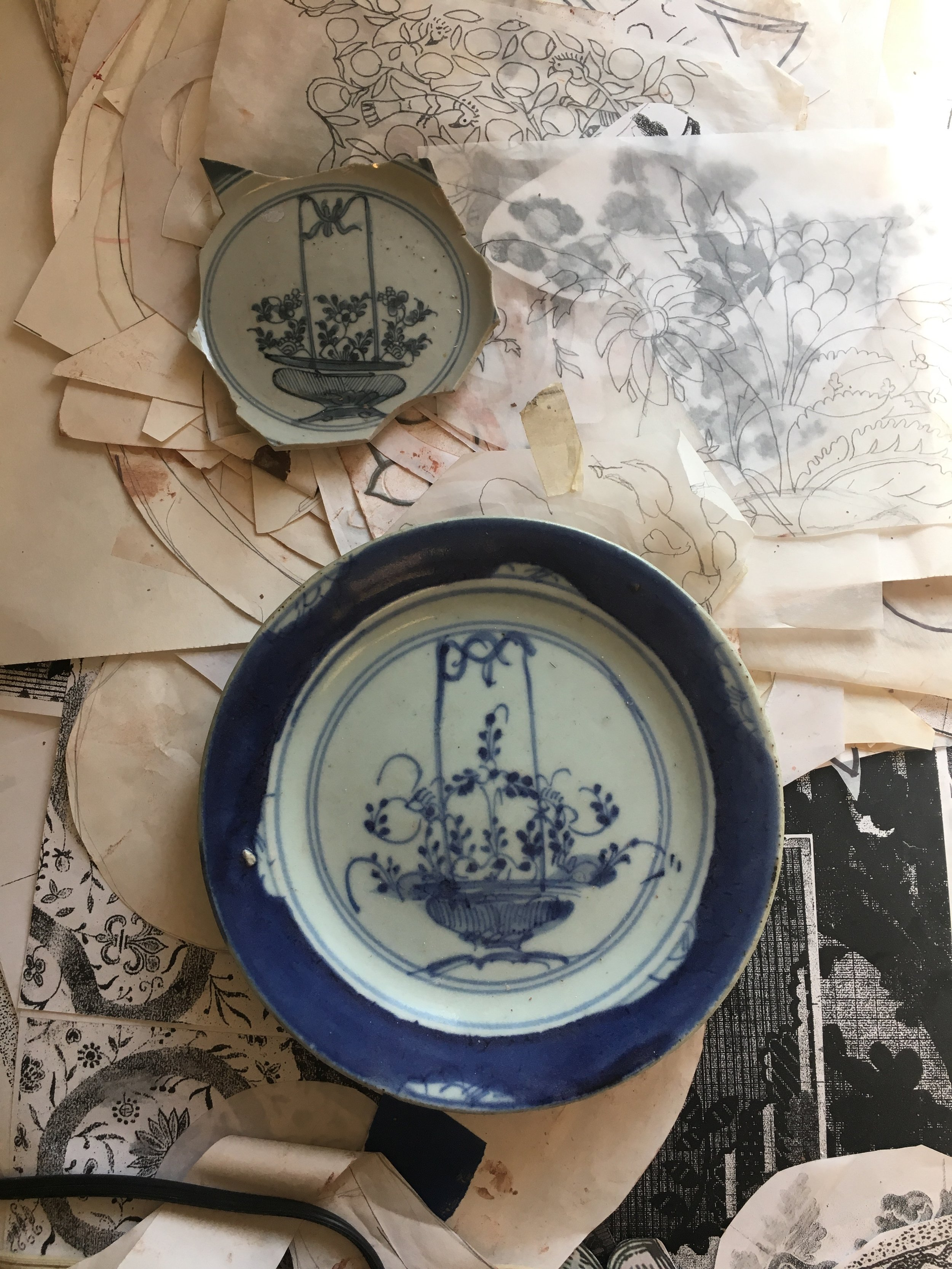 Andrea's most recent body of work is inspired by Chinese export ware.