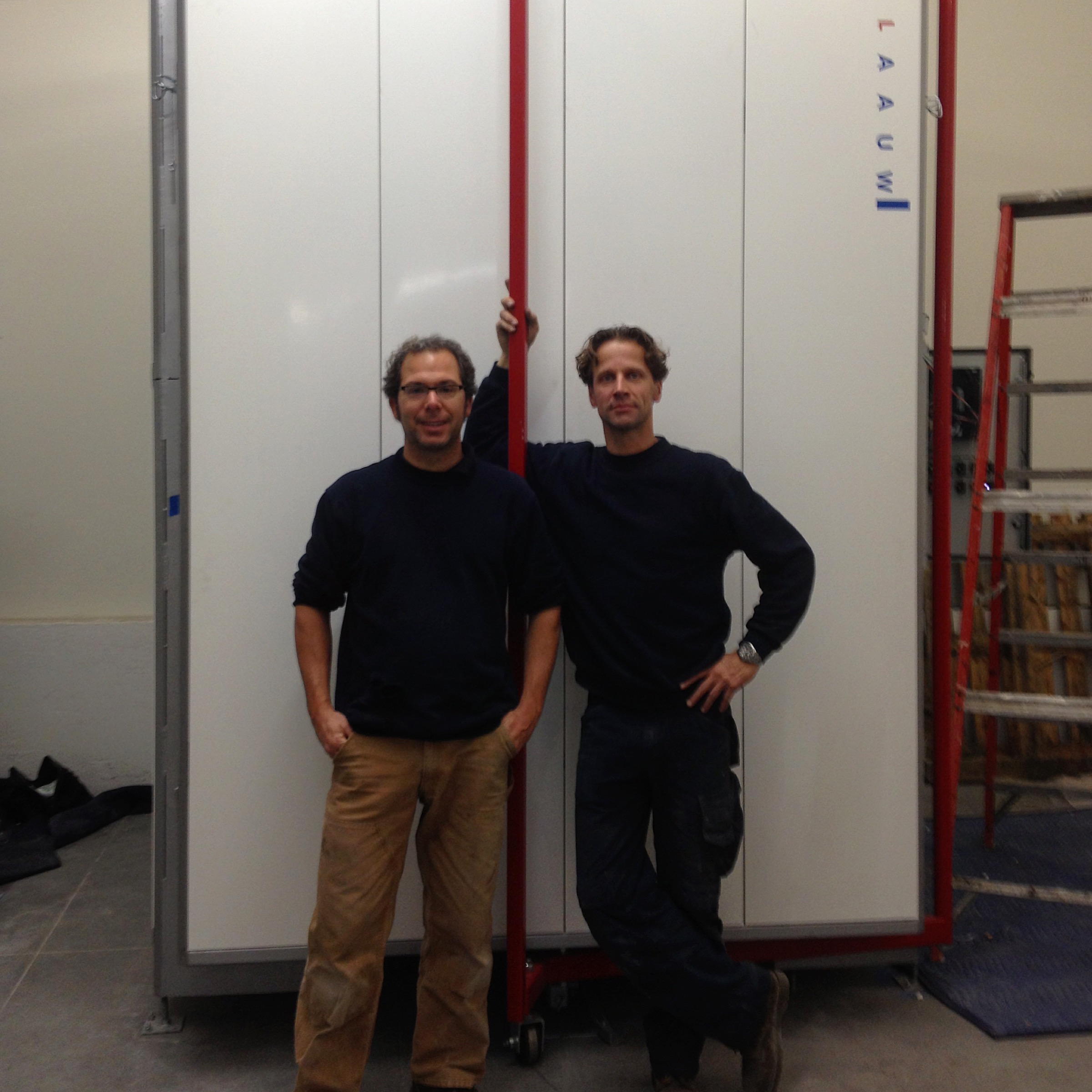 Jeff Chown and Guido Strijbos from Blaauw Kilns