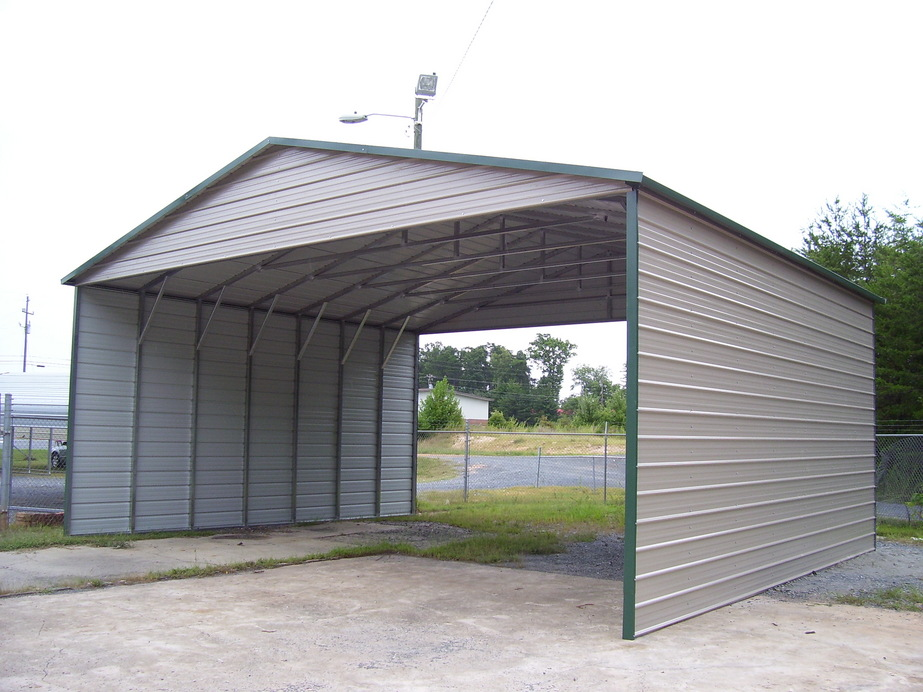 Enclosed Buildings - Keeping rain, snow and other forms of precipitation out of your metal containers is critical in eliminating the spread and seepage of cutting fluids, coolants and industrial oils. We will work with you to custom design a steel enclosure that fits your needs. And the best part.... we will pay for the cost of the enclosure.