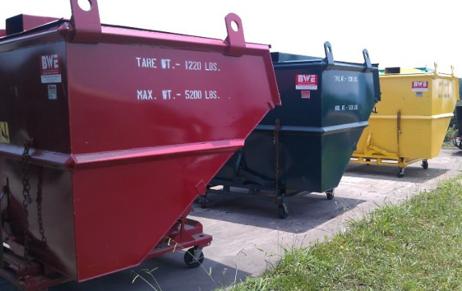 Color Coded Dump Hoppers - Segregating different alloys within your facility is easy, once we've formulated a plan
