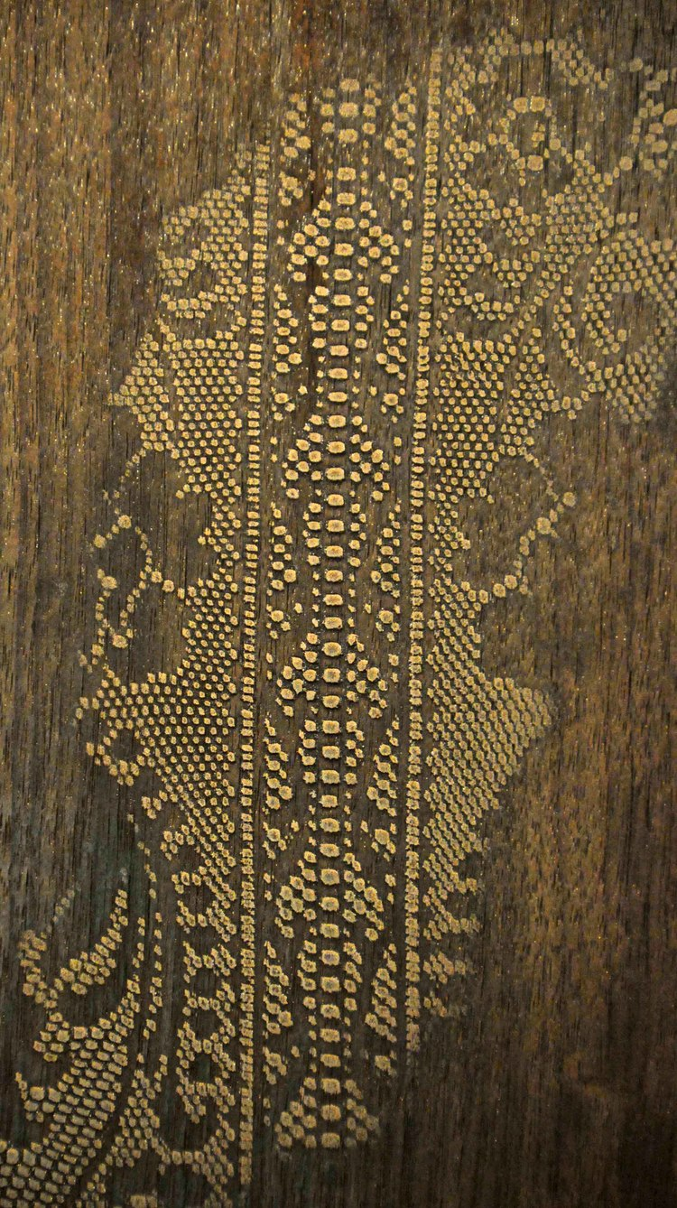 Bronze Lace on Timber