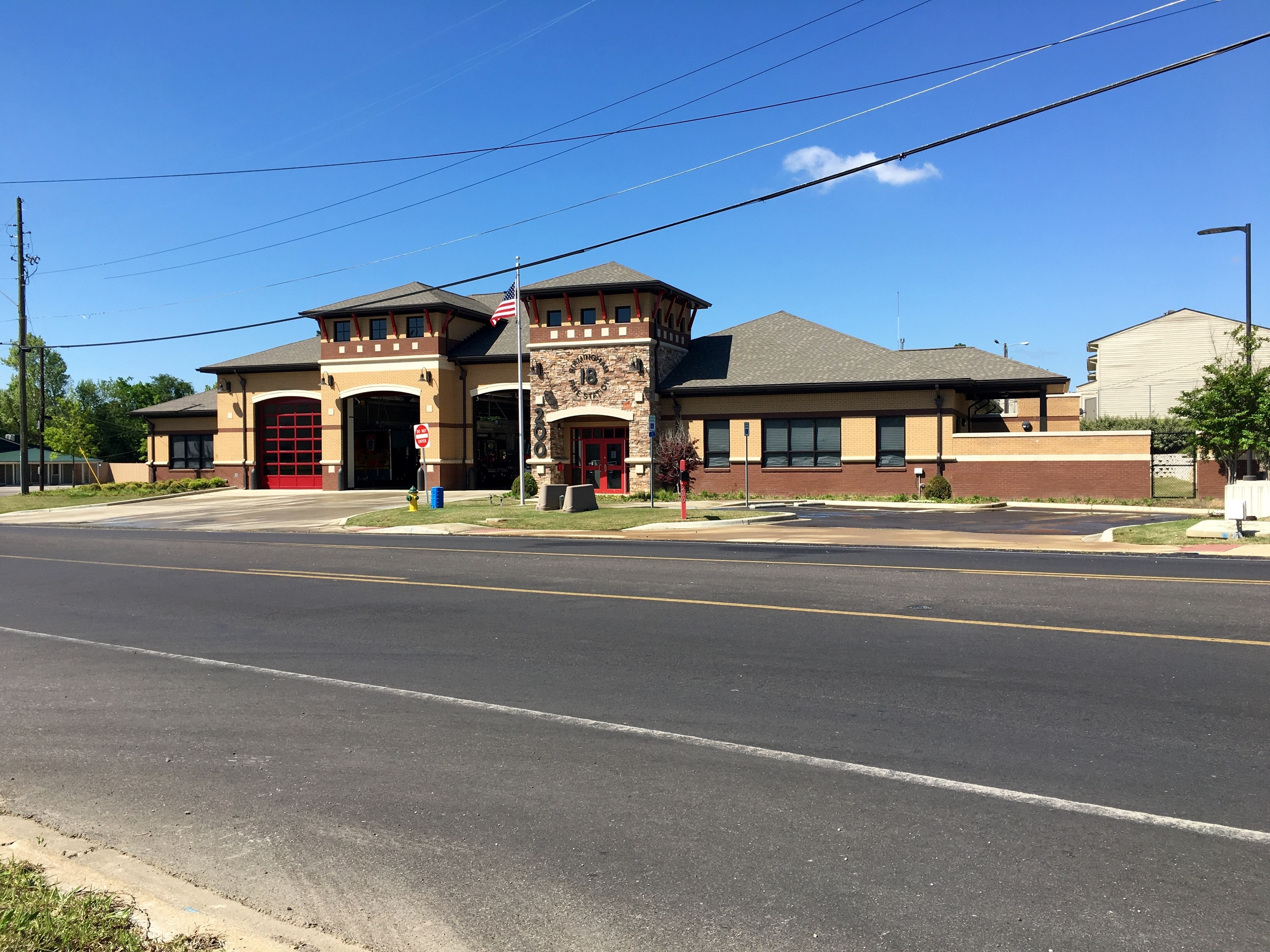 Pratt City Fire Department. Birmingham Fire Station No. 18.  The design was done by local architecture firm Dorsey Architects and Associates   Photo credit: Charlie Abram, Graduate Architect @ BPA