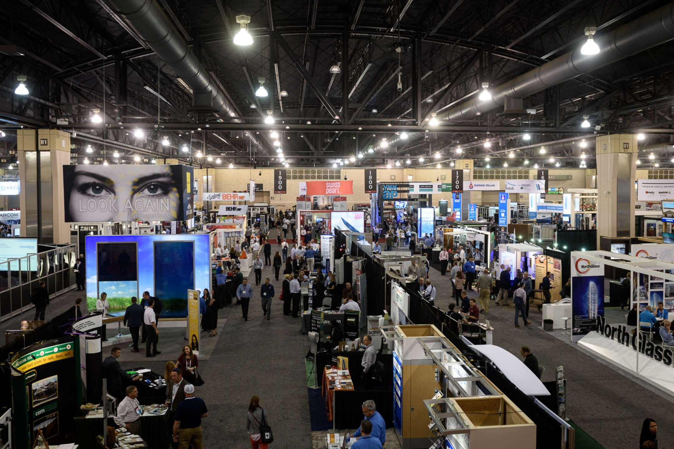 View of the Expo Floor, photo credits: AIA