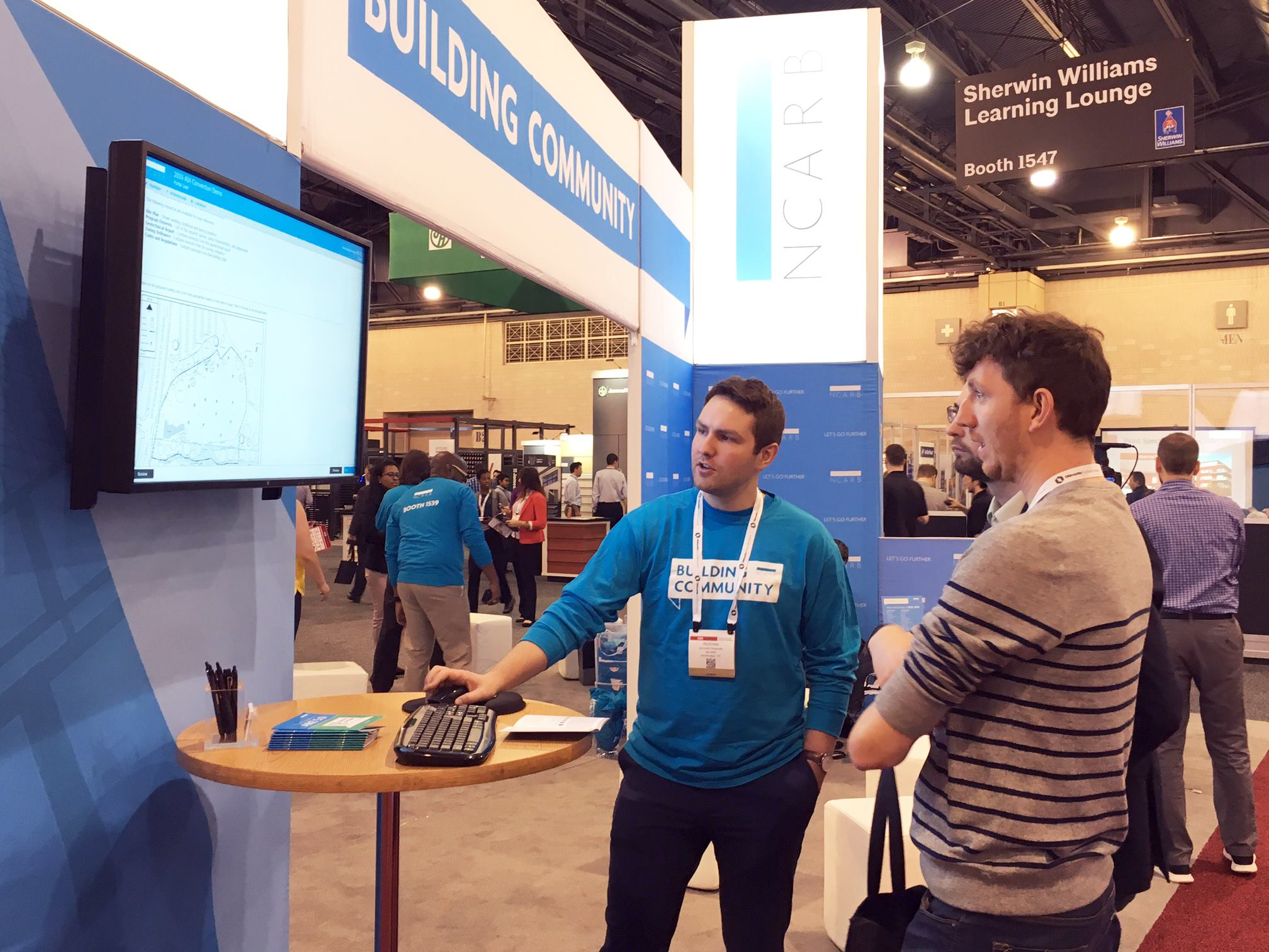 An NCARB staff member showing a pilot version of ARE 5.0 off. photo credit: NCARB
