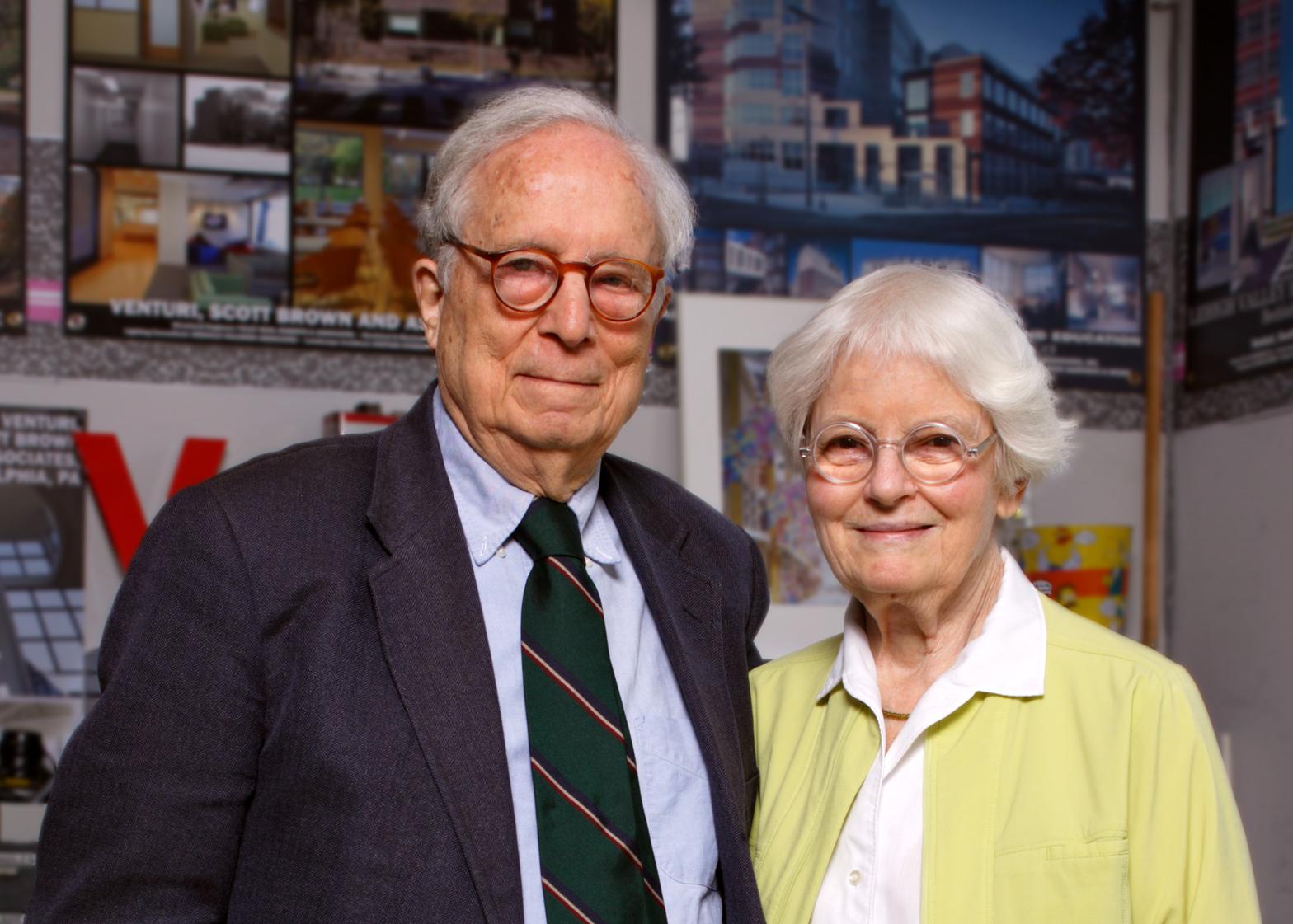 Robert Venturi + Denise Scott Brown, recipients of the 2016 AIA Gold Medal