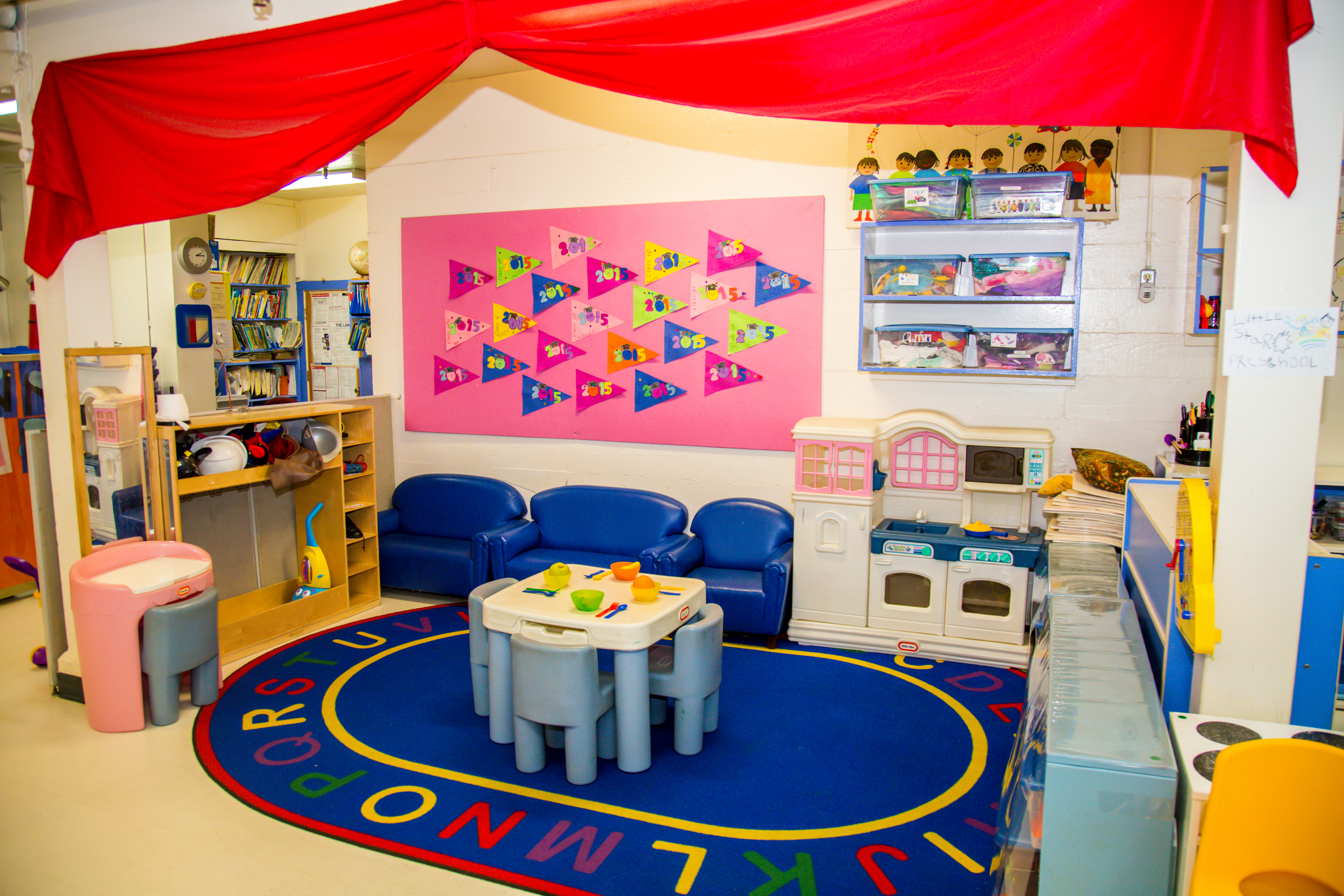 No school is complete without its playhouse. This sheltered area is set up for dramatic play every morning with different themes so thatevery childhas a chance to engage with their personal interests.