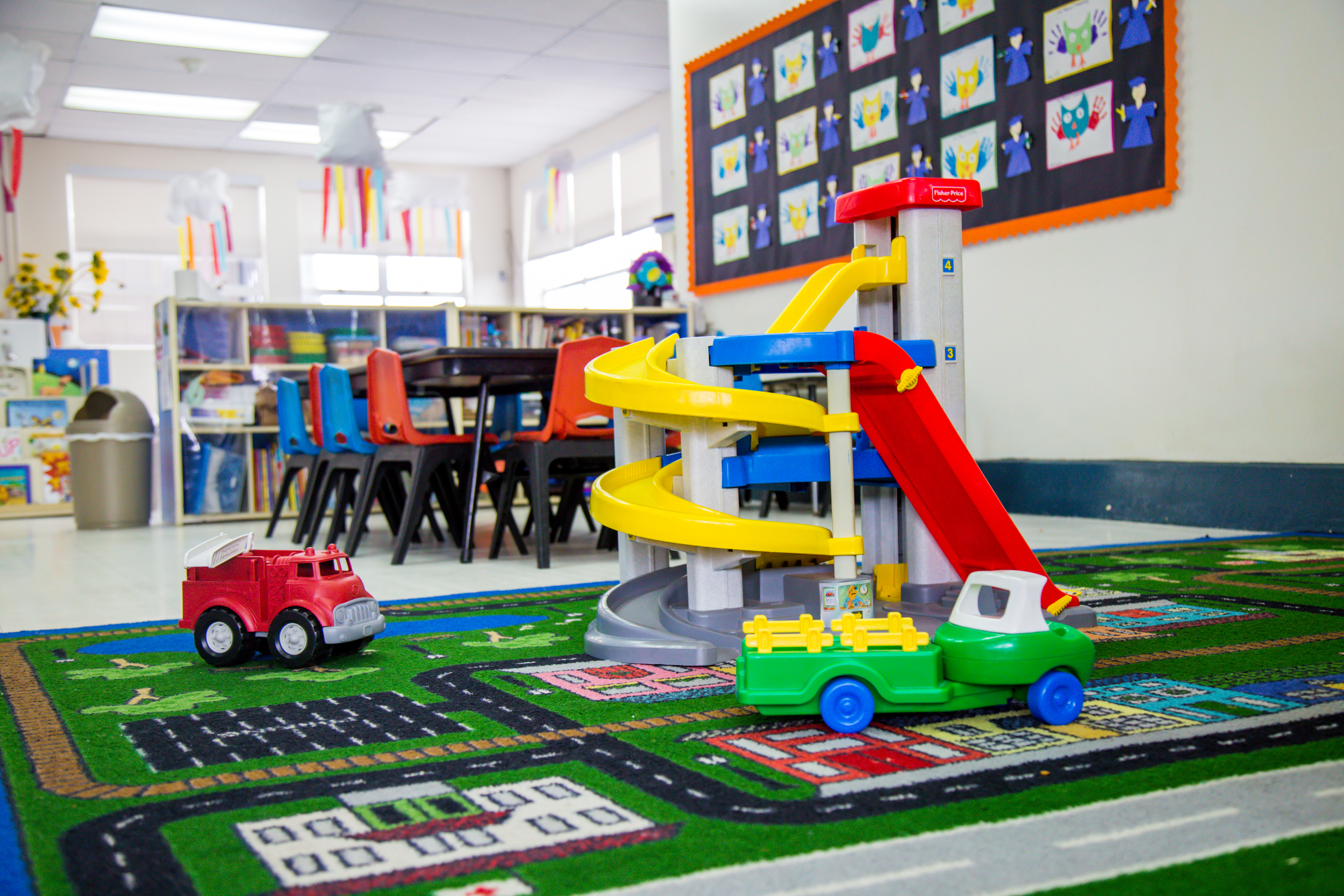 Cars and trucks are a time-honored favorite among our students, and are often available for morning free play or on rainy afternoons.