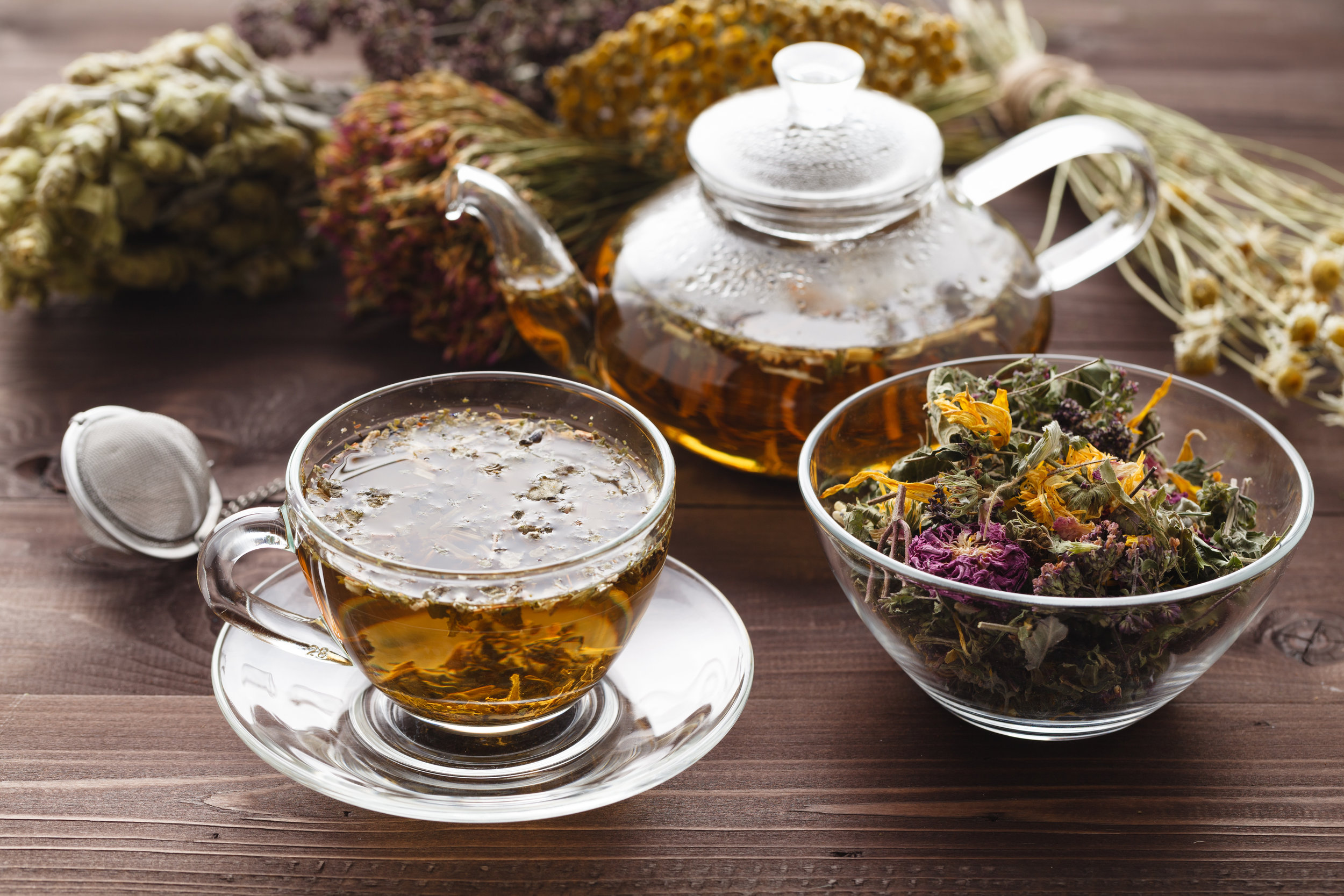Create a self care list and include blended herbal tea.