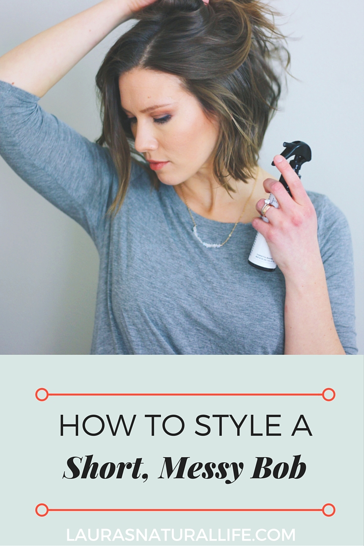How I Style My Short Hair Laura S Natural Life