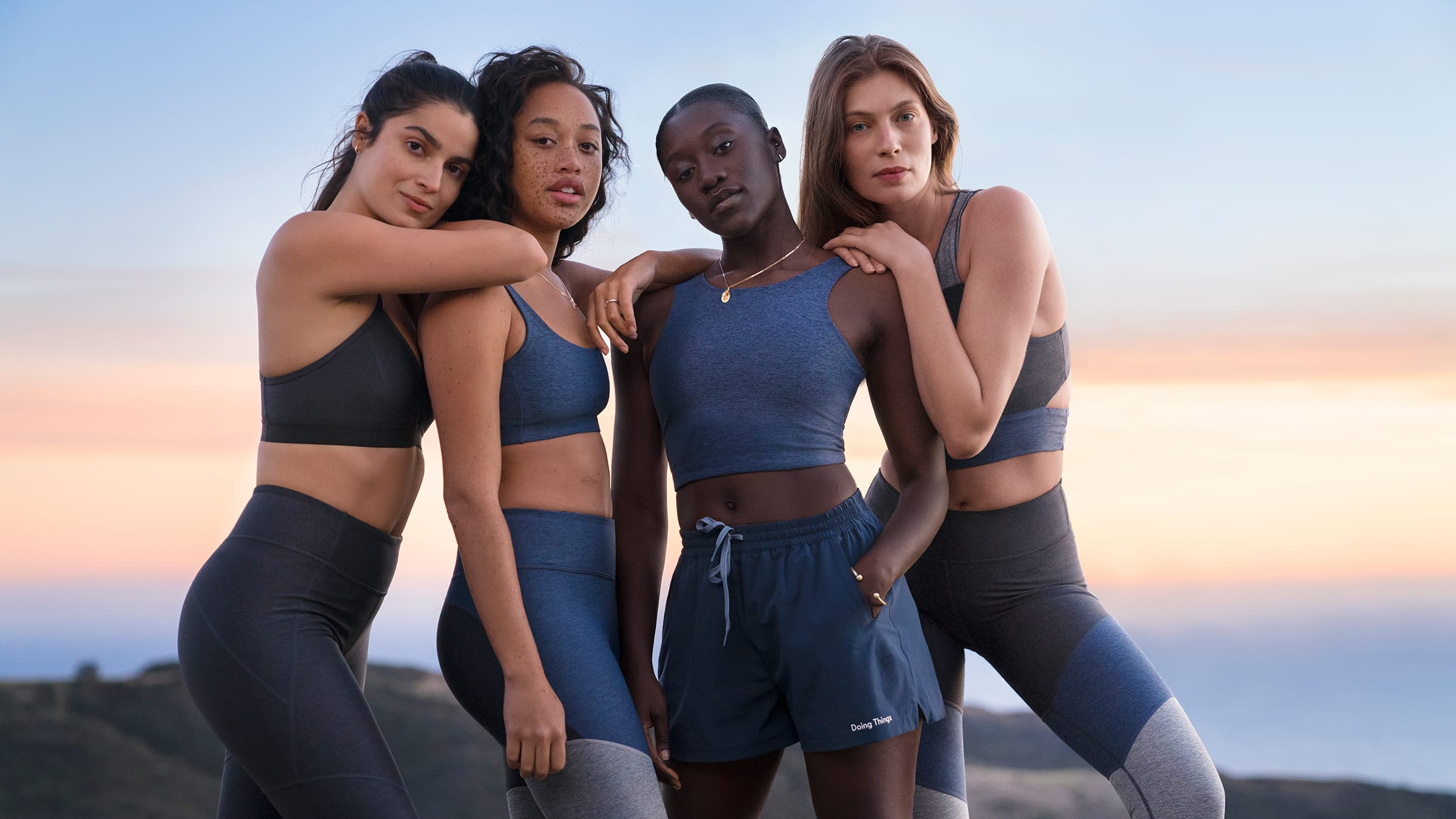 Outdoor Voices - And lastly, Outdoor voices. Their deep caring about how and what they make all of their clothing out of, means they are a wonderful fit for your swimsuit hunt. They also have a range of swimwear fit to whatever specific activity you may be doing in the water, and just released a line with Teva for real water adventures. Shop their collection.