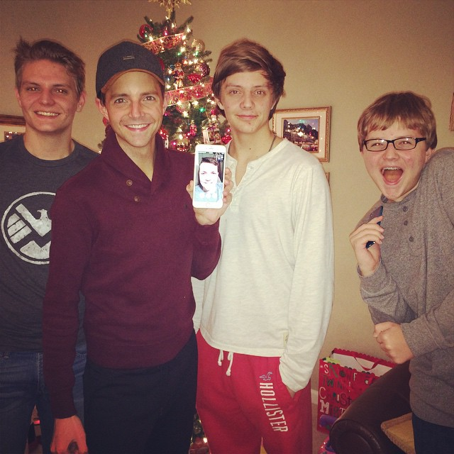 Ringing in the New Year with all 5 Bennett Boys  #2015