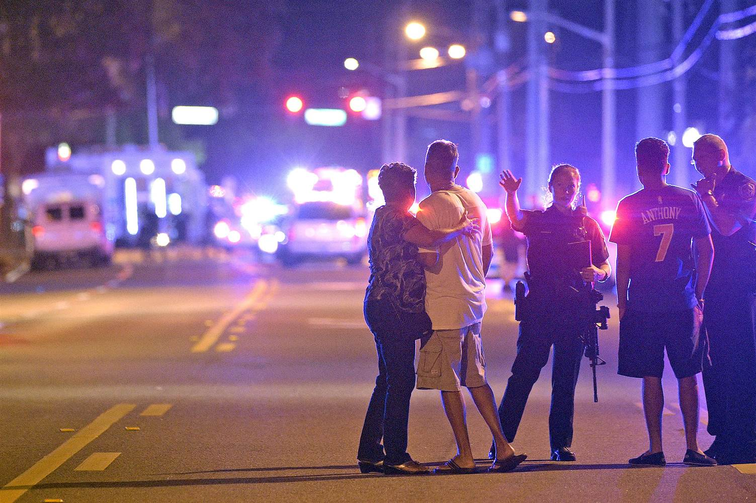 Watching the scene outside of the Orlando shooting.