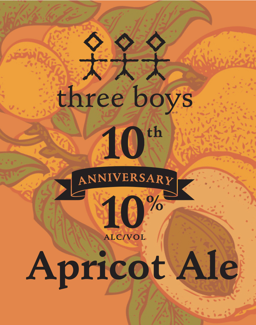 Three Boys 10th Anniversary Apricot Ale - 10% ABV