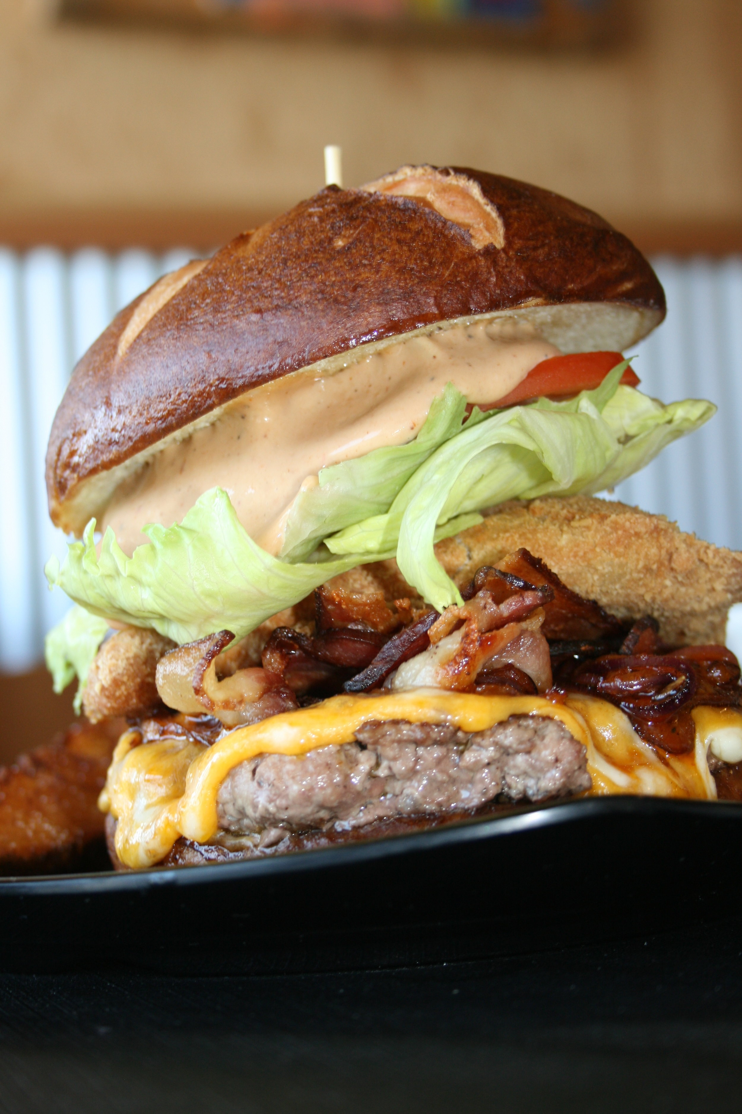 MODERATION IS KEY   Don't deprive yourself, but do take good care of your gut. Make room for a burger (like this behemoth at Flavor Factory in Morro Bay) on occasion, and enjoy every mouthful.