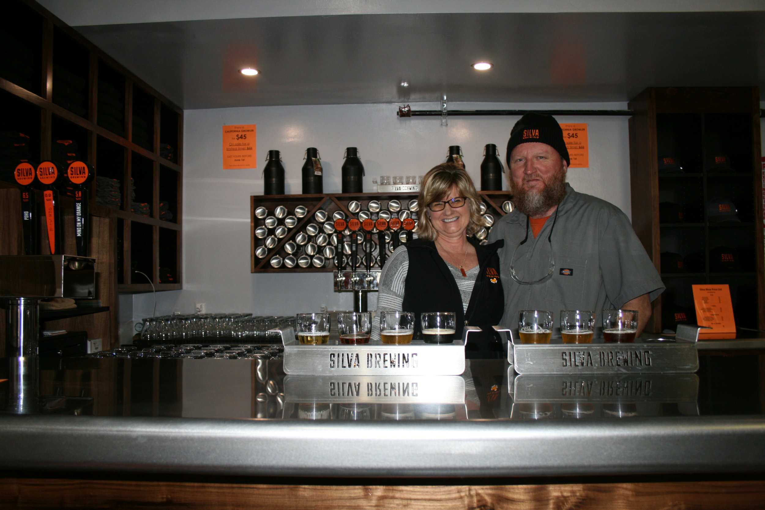 JUMP IN, BEER'S FINE    In 2015, San Diego residents and Silva Brewing Co. owners Chuck and Mary Jo Silva jumped head first into the idea of starting a new life on the Central Coast. First came wedding bells, then a big move, and then an even bigger dream: to brew their own beer together.    PHOTO BY HAYLEY THOMAS CAIN