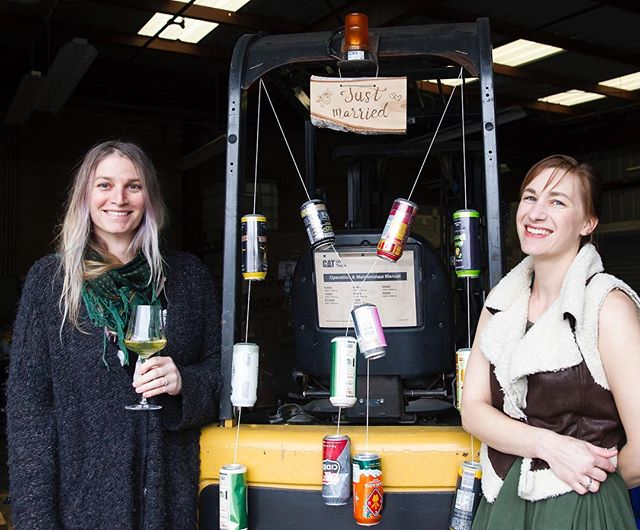 It's international woman's day, and what better way to celebrate locally than by cheersing these two strong, dynamic ladies who are making awesome cider in SLO? My story on @twobroadscider is out on stands today! Find wherever you get @newtimesslo 🙌 🍏 . Photo by Jayson Mellom . Correction to paper edition: the cider is not available at Novo at this time, but you can find it on tap @7sistersbrewing . . #flavorslo #twobroadscider #hardcider #appleaday #womenrunbusiness #womencidermakers #cidermaking