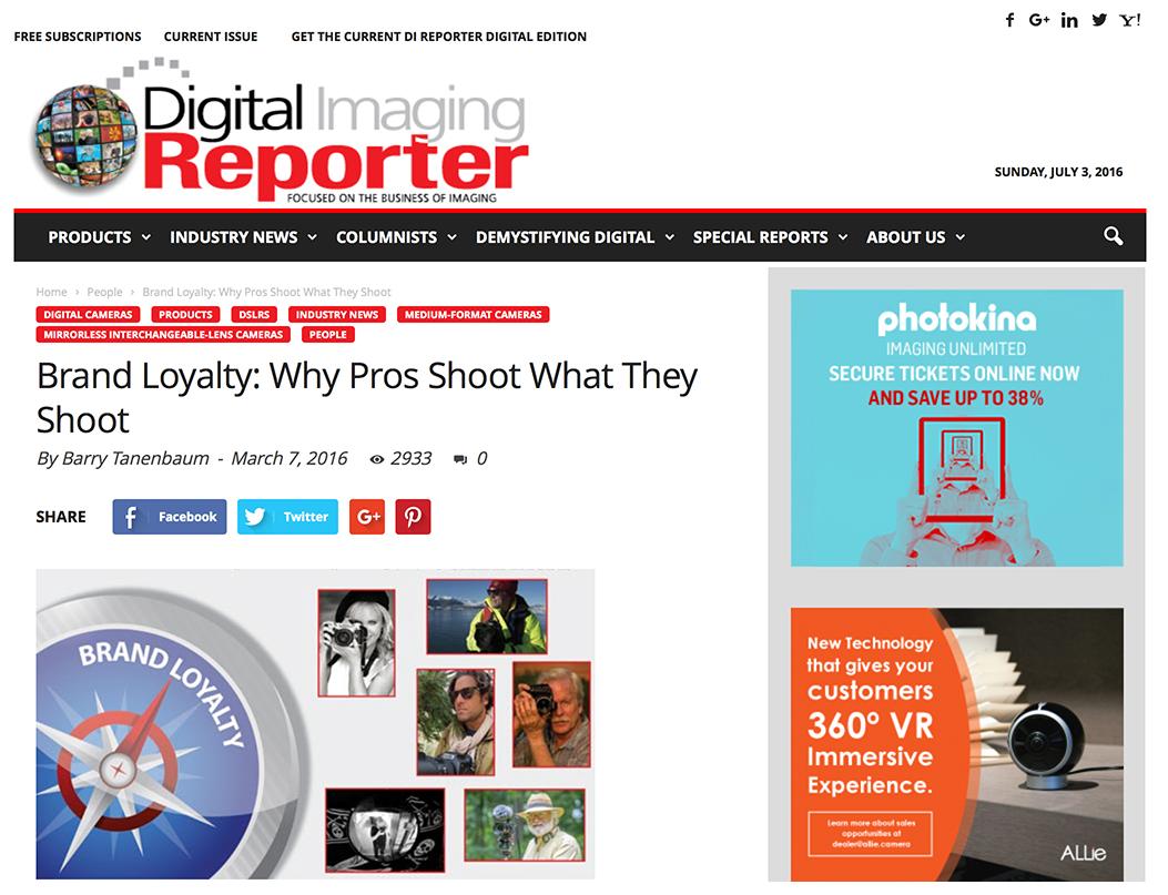 Giulio Sciorio featured in the March 2016 issue of DI Reporter