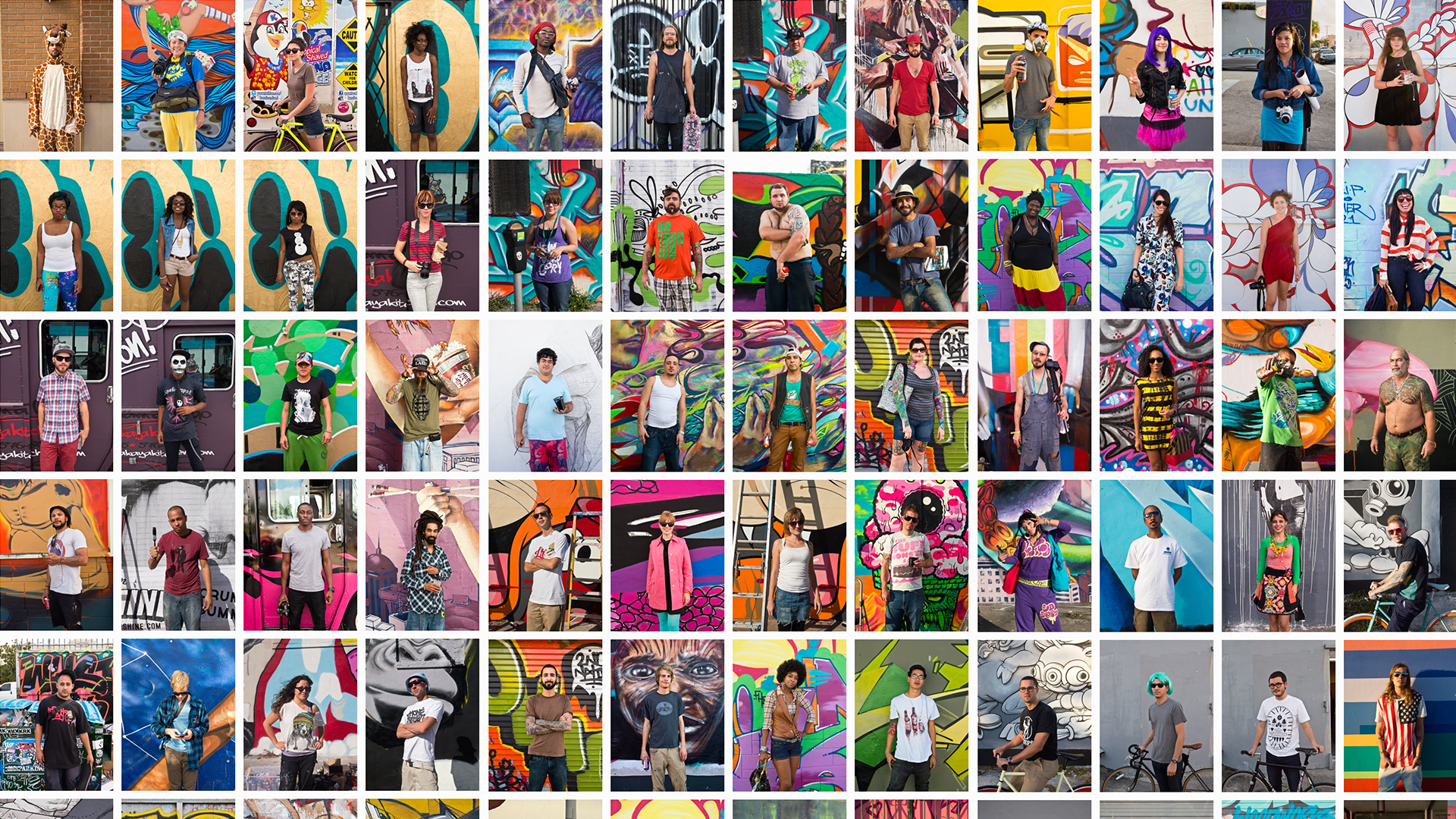 A selection of The Art Basel Street Portrait series. Click on the images to visit my portfolio.