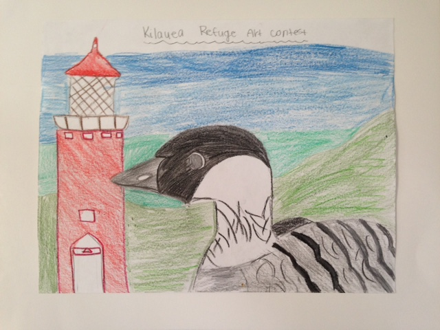 First Place:  Seijia Makanani, 6th Grade, Kapaa Middle School
