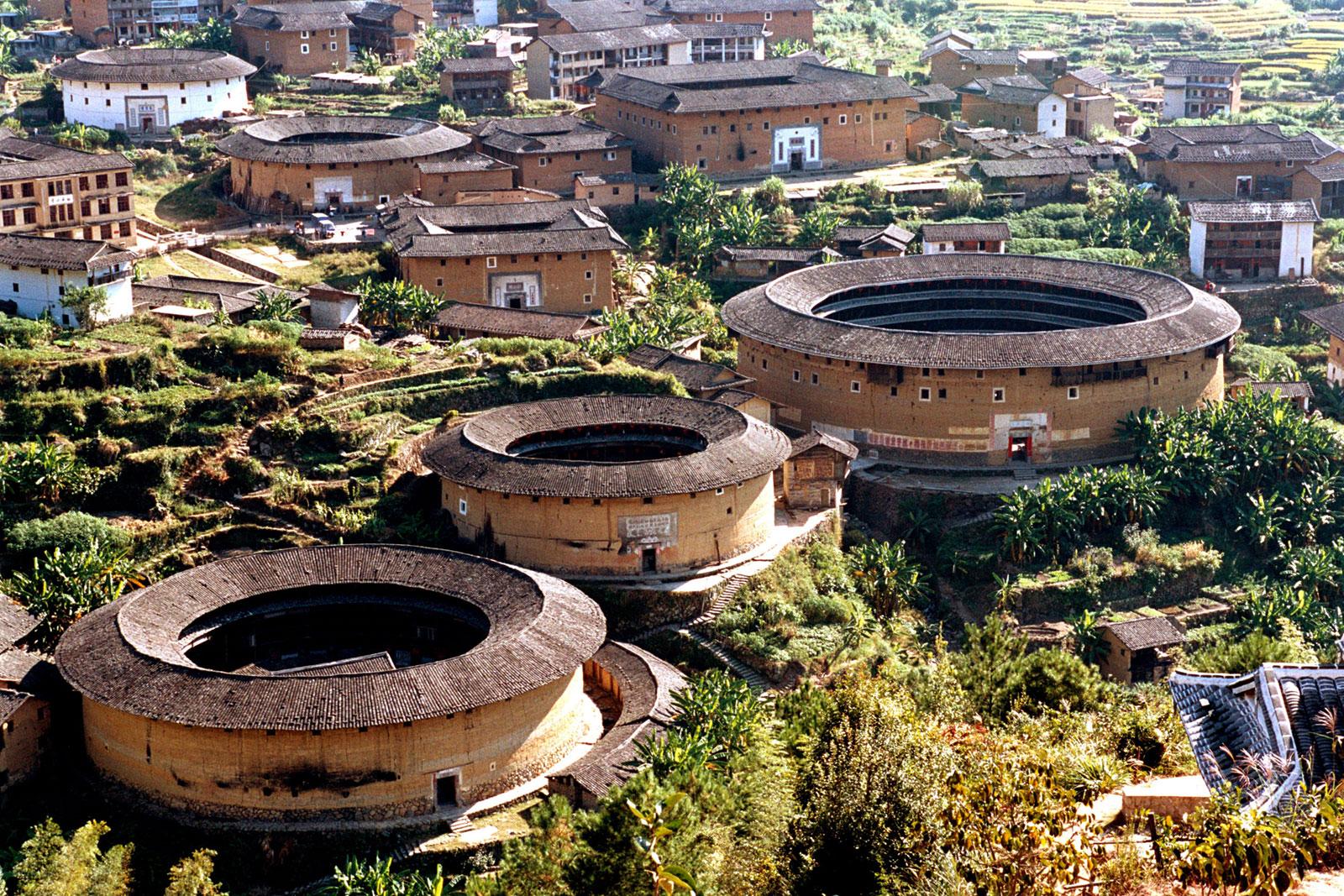 Hakka Round Earth Buildings in Tulous
