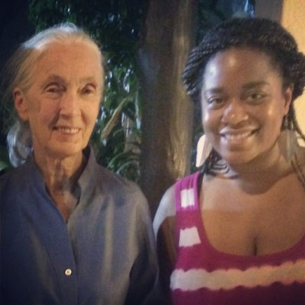 Ms. Jane Goodall and Me