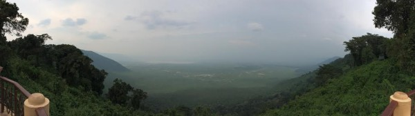 Panoramic View of Ngorongoro Crater